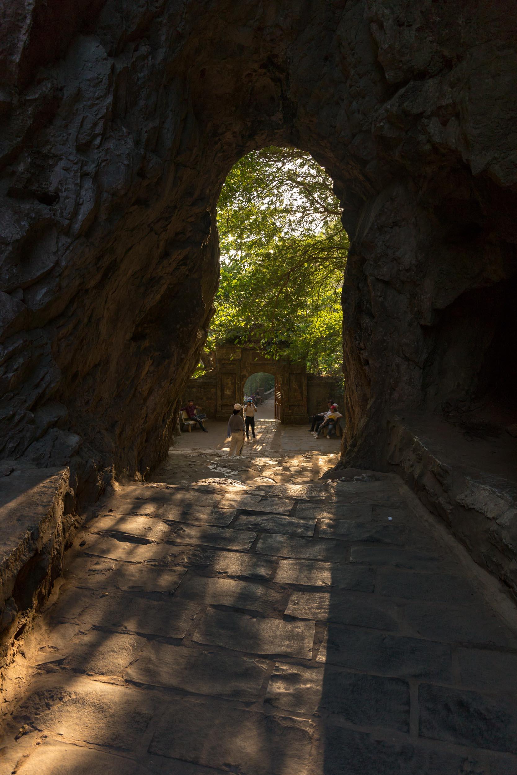 Cave on the Marble Mountain, Da Nang, Vietnam.