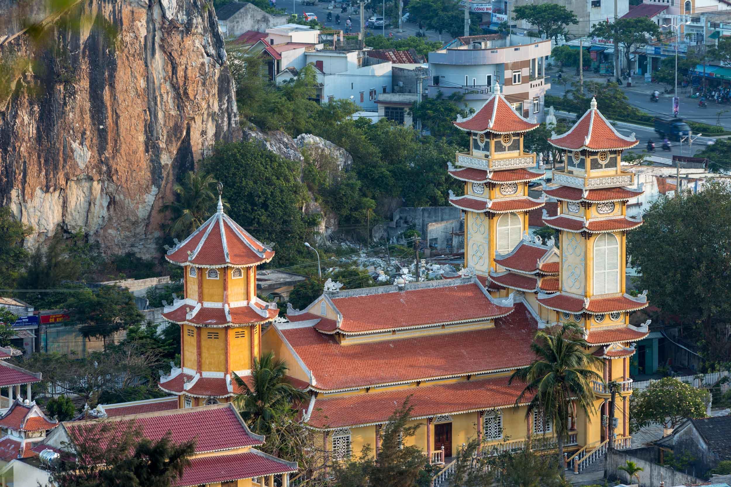 Temple shot from Marble Mountain, Da Nang, Vietnam.