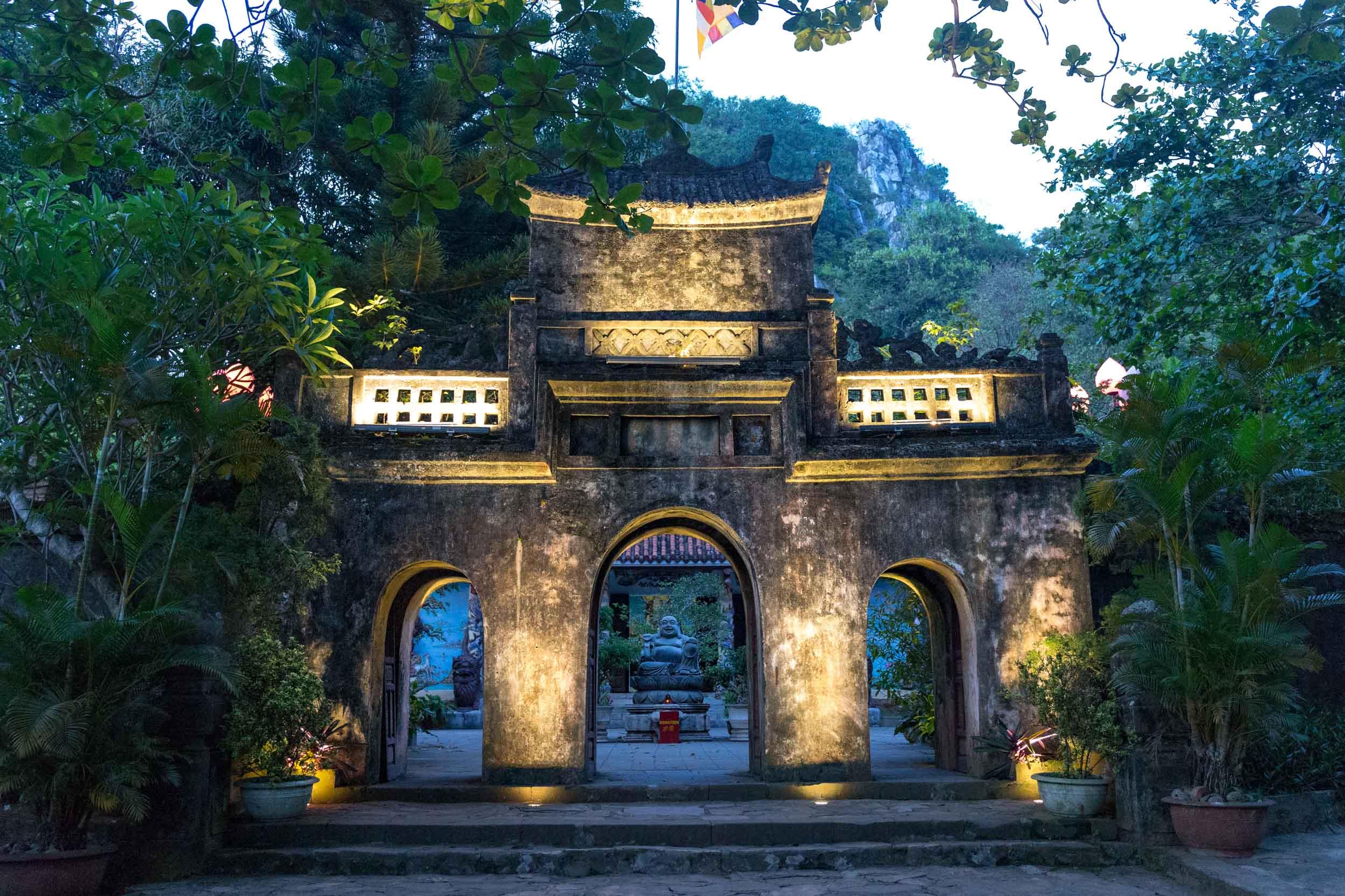 Temple entrance on Marble Mountain Da Nang, Vietnam.