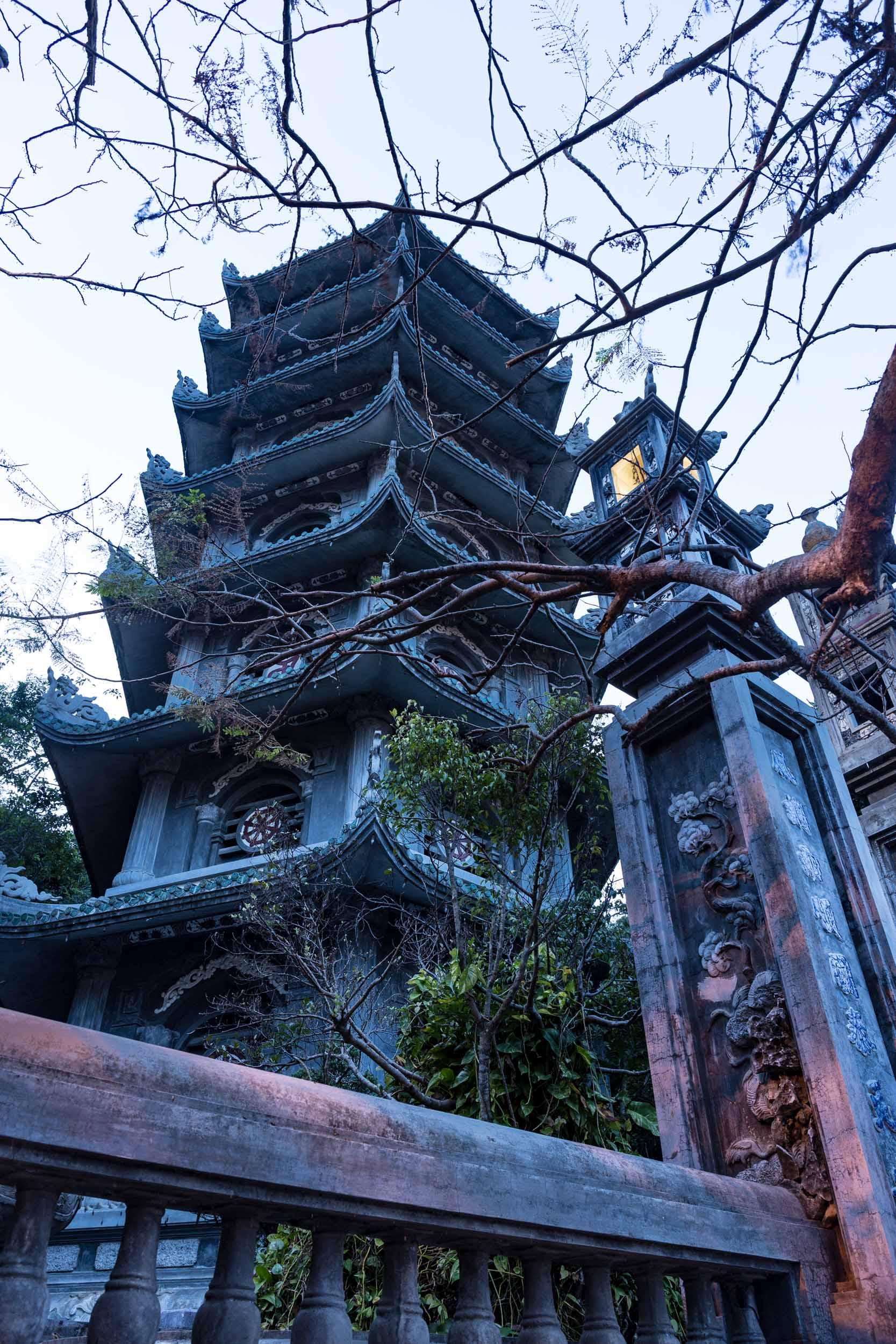 Pagoda on Marble Mountain, Da Nang, Vietnam.