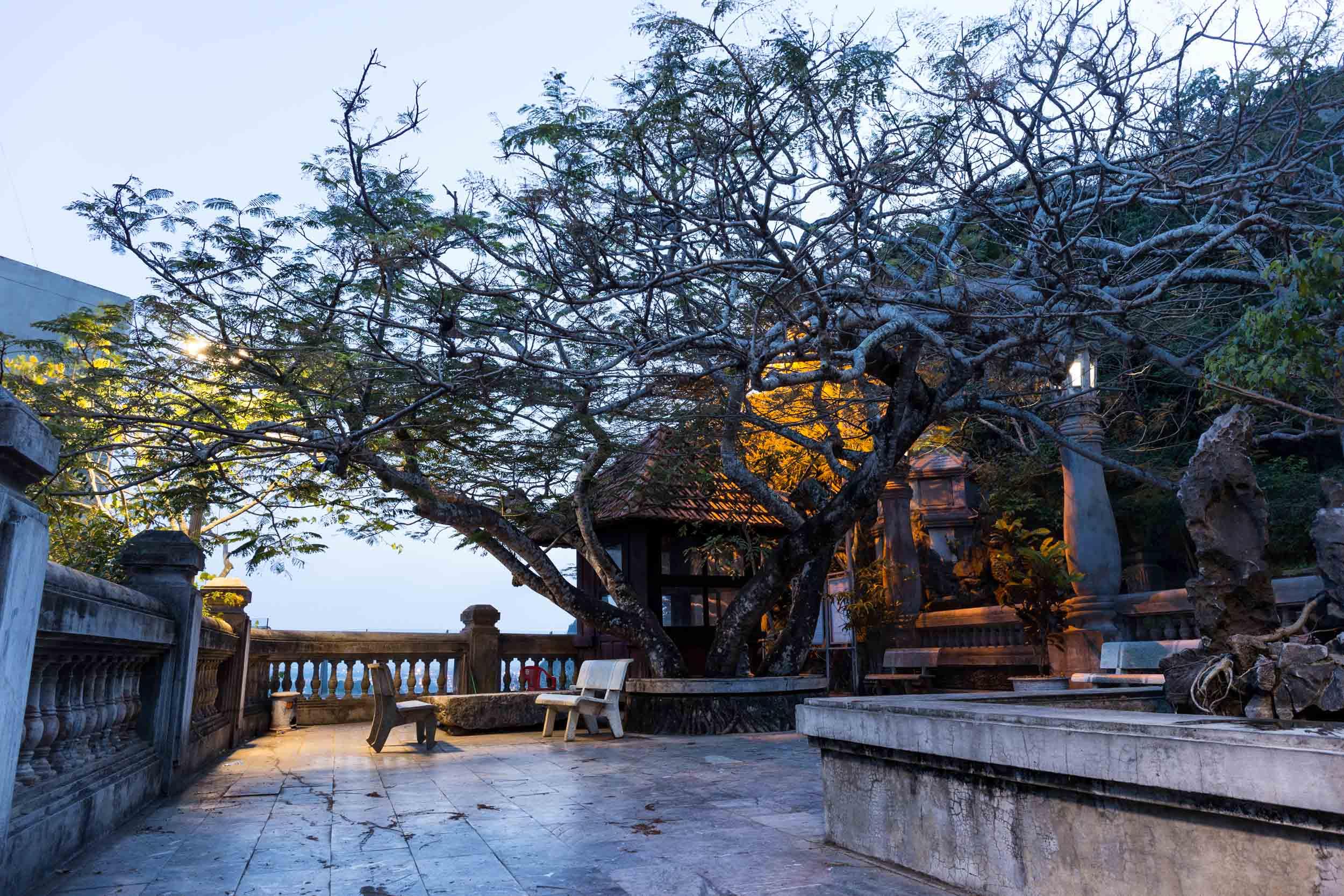 Temple courtyard, Marble Mountain, Da Nang, Vietnam.
