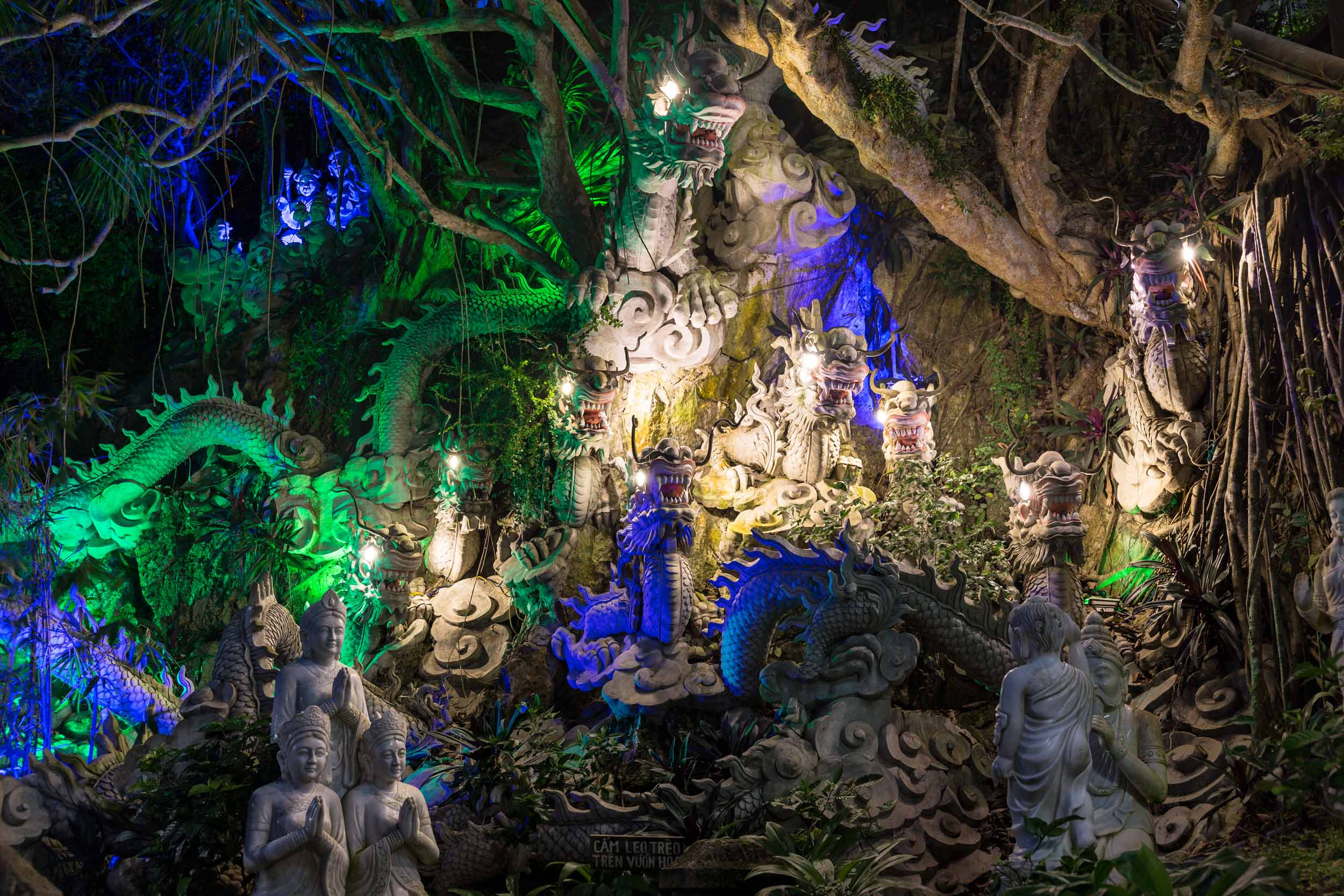 Dragon monument on Marble Mountain, Da Nang, Vietnam.