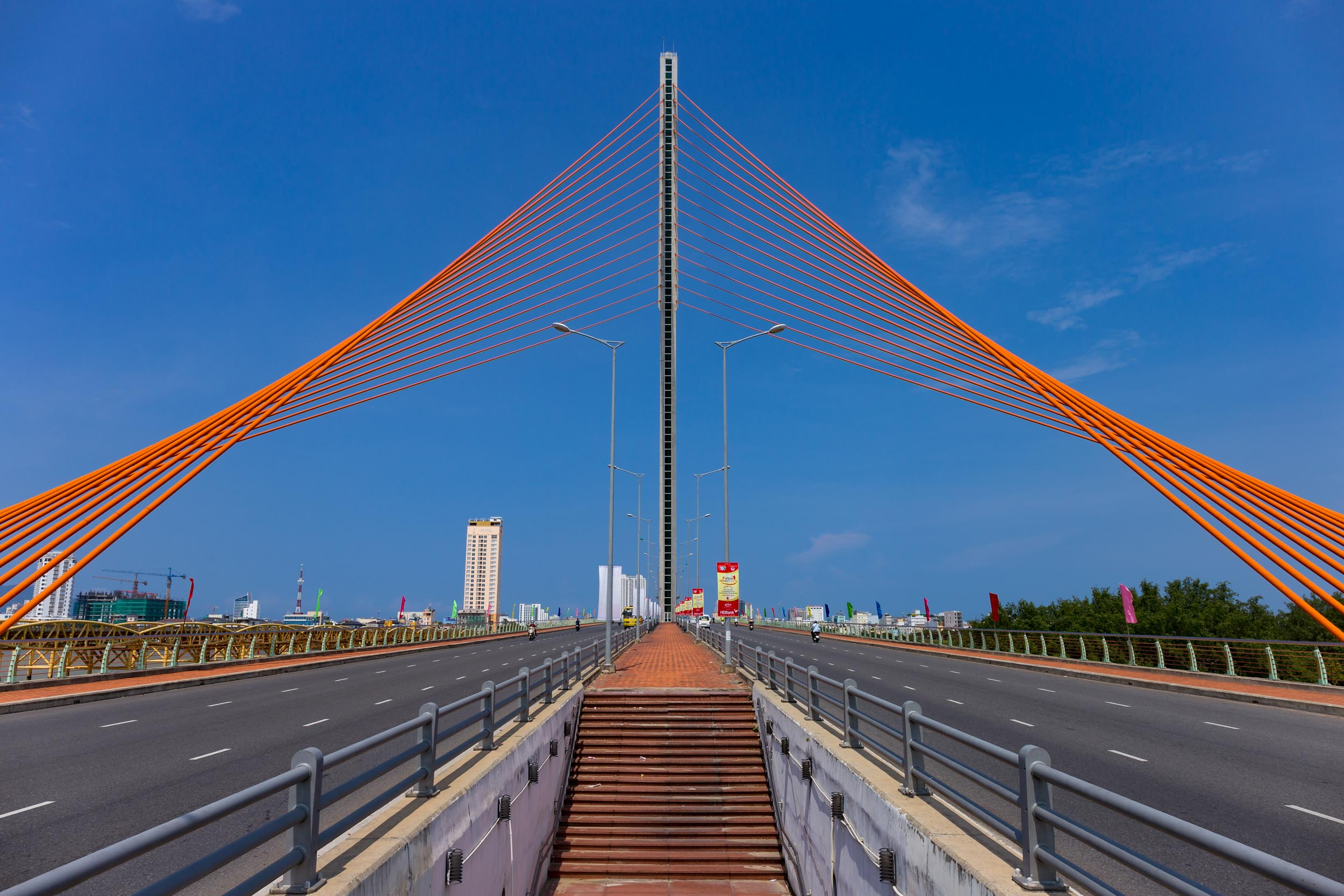 Suspension bridge Da Nang, Vietnam.