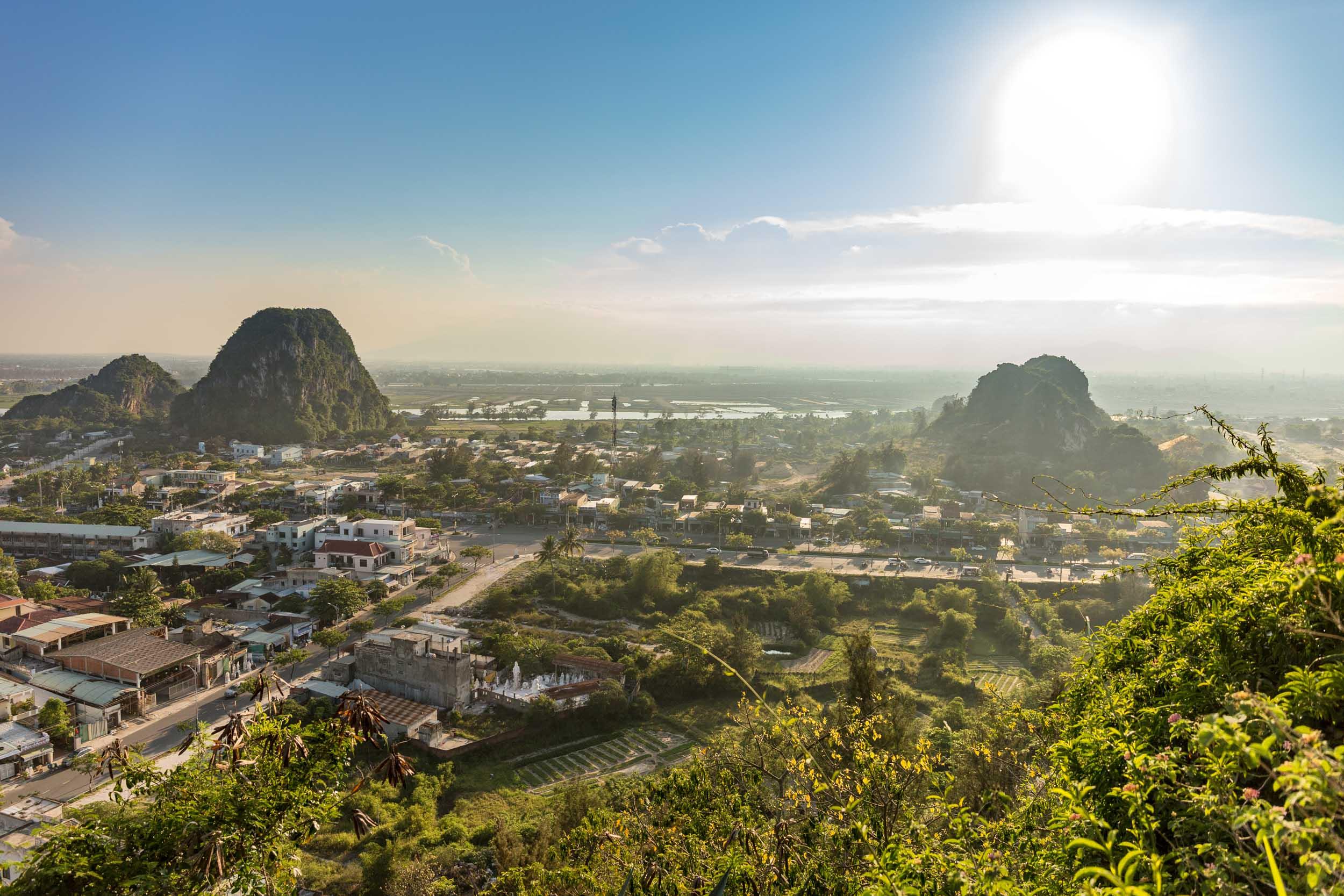 View of Da Nang from Marble Mountain