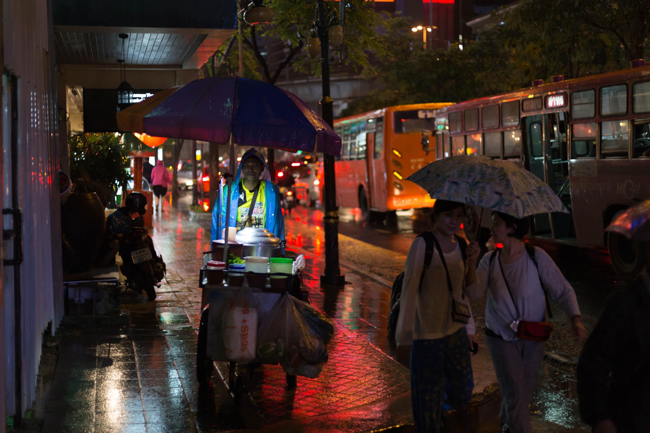 Thai Street Vendor at Night.
