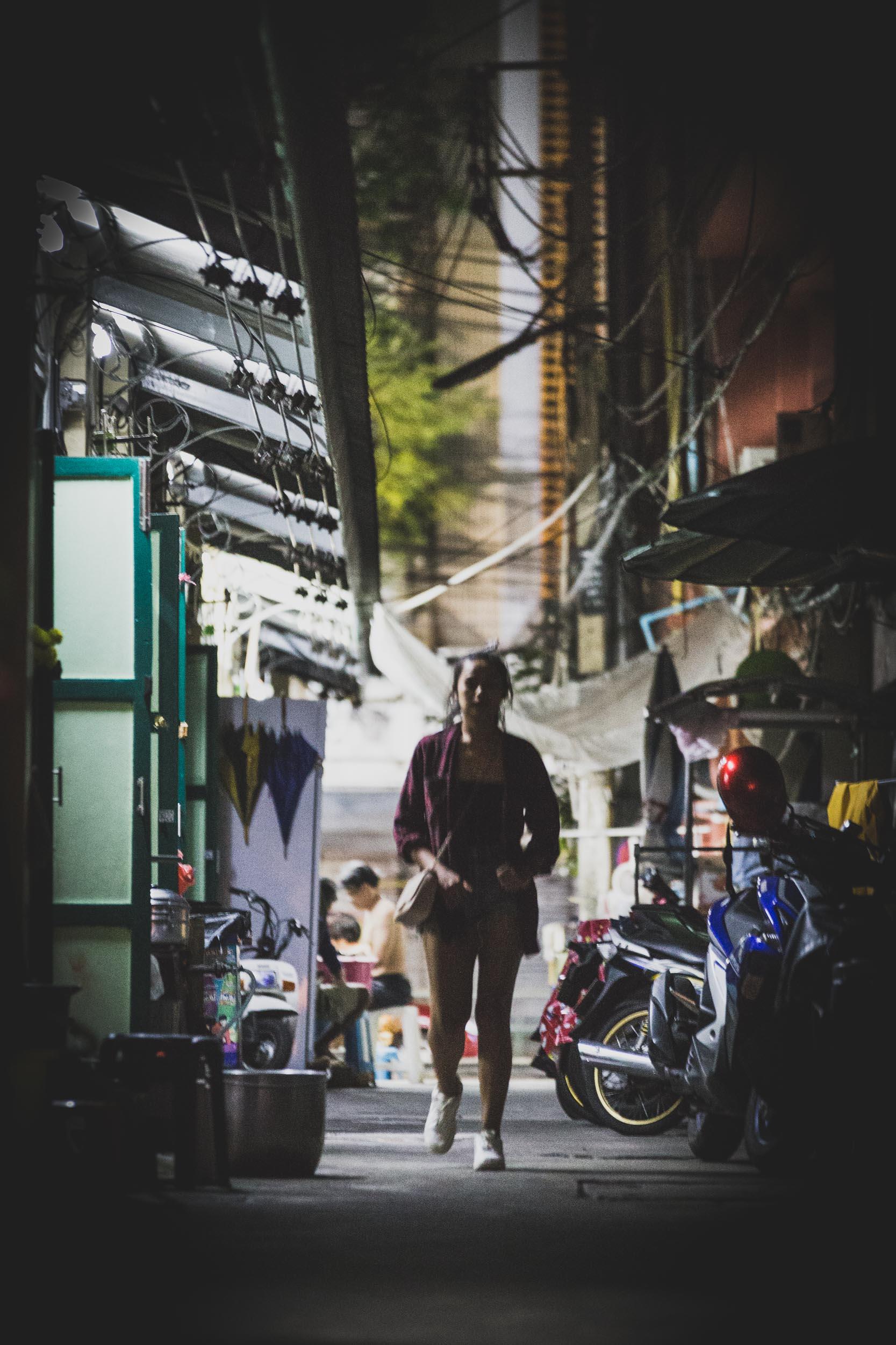 Alleyway by Khao San Road.