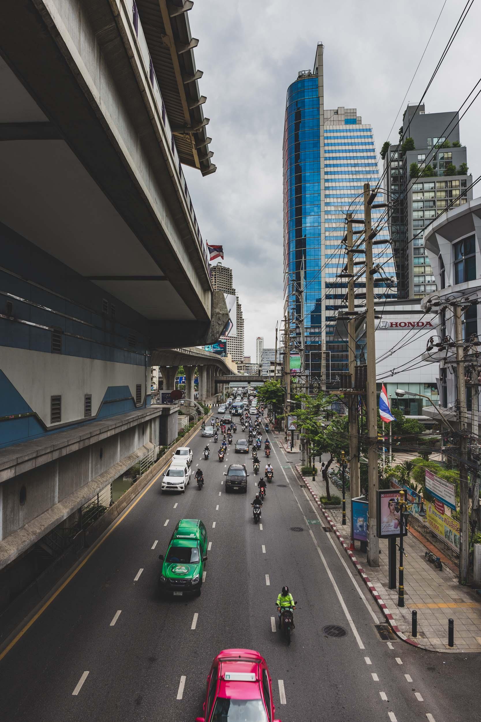 Silom dual carriage way Bangkok.