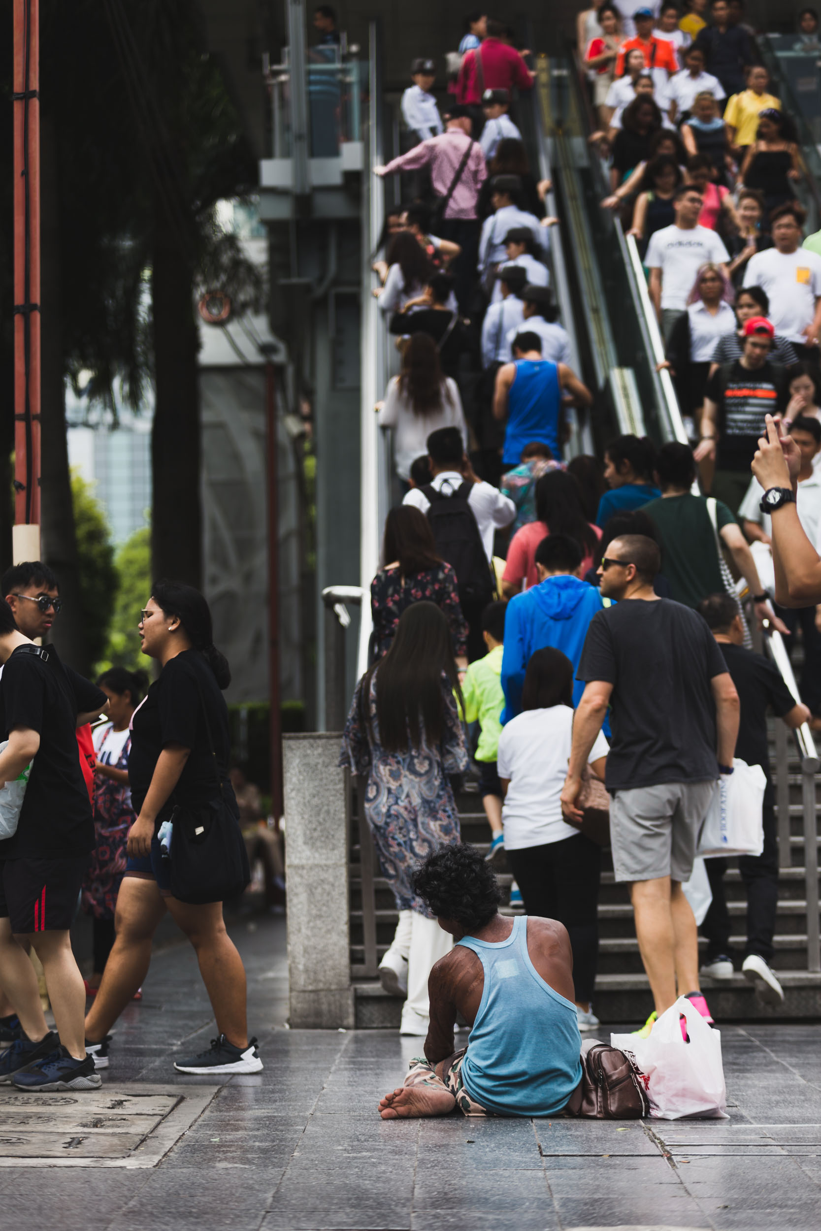 High street shoppers in Bangkok.