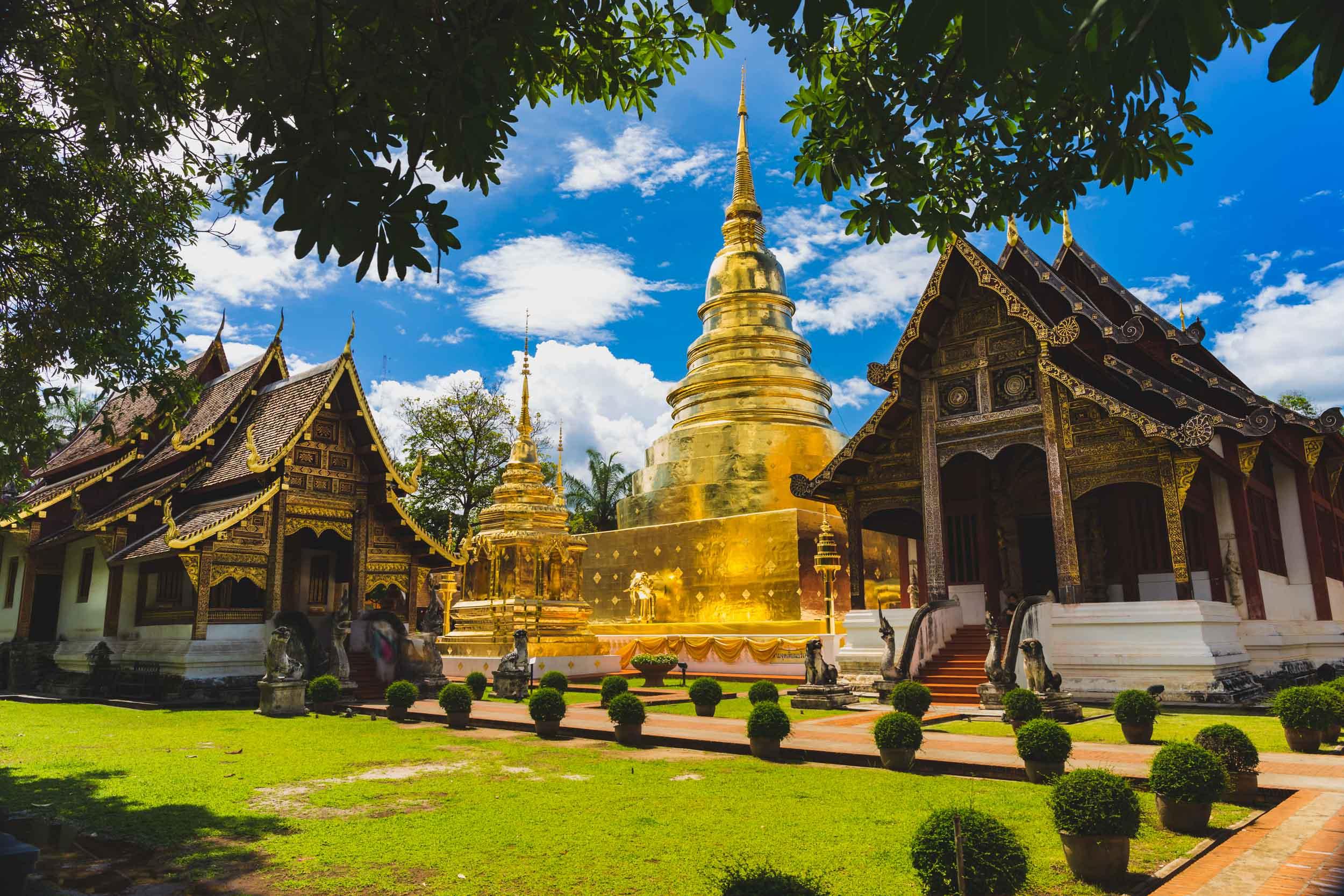 Golden Temple, Chiang Mai, Thailand.