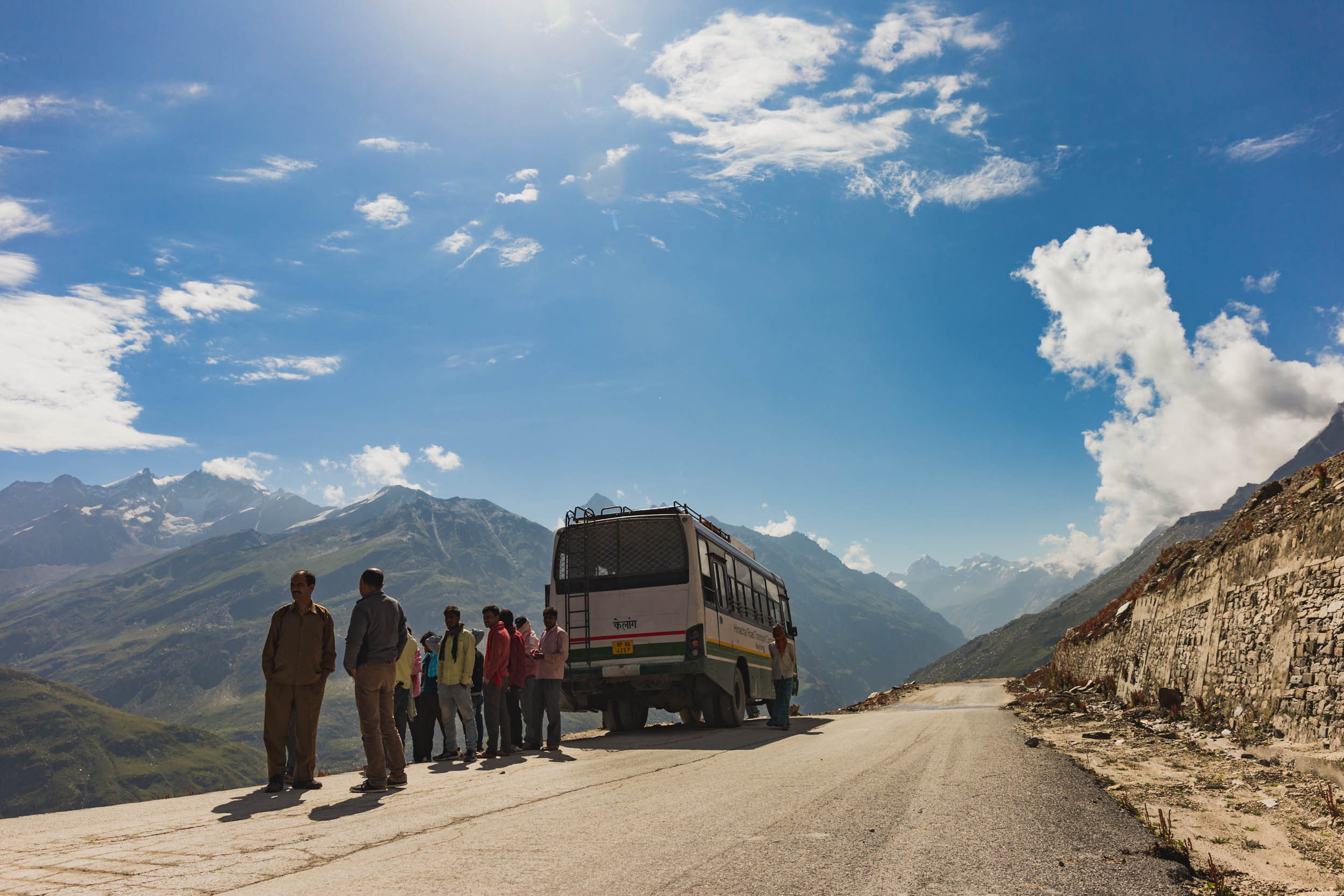 Local Bus to Spiti Valley