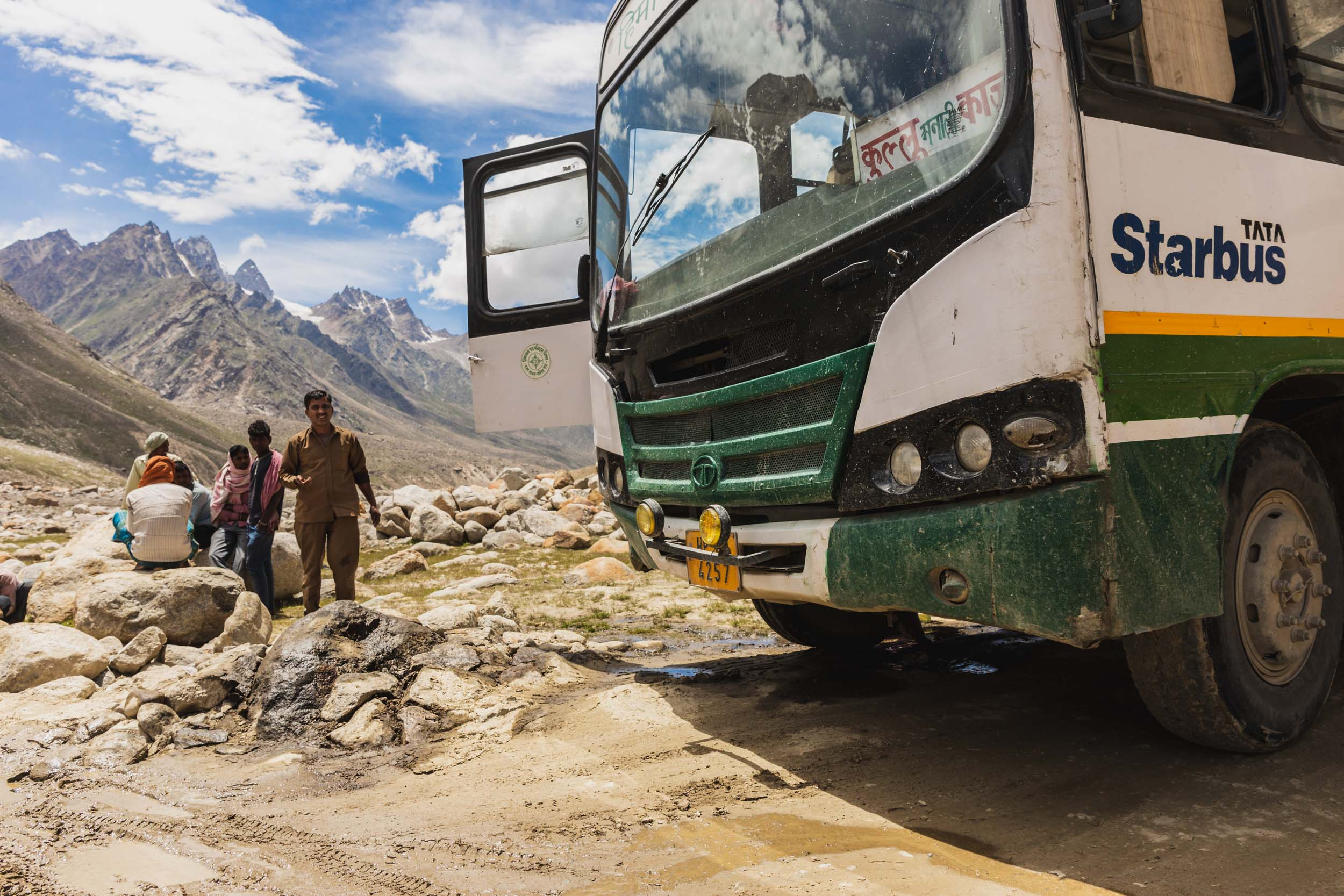 Bus Driver Crashes in Spiti Valley