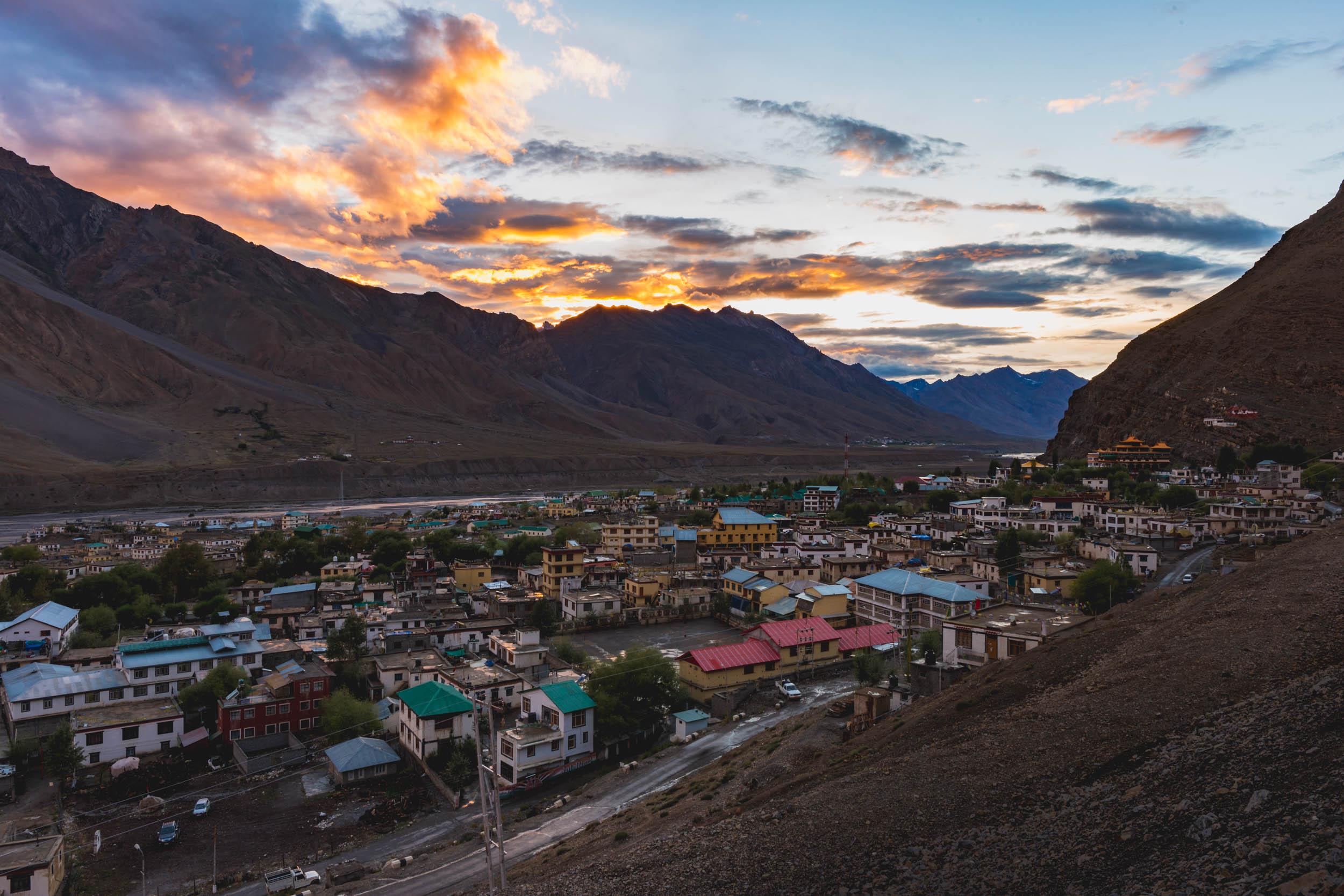 Kaza, Spiti Valley Sunset