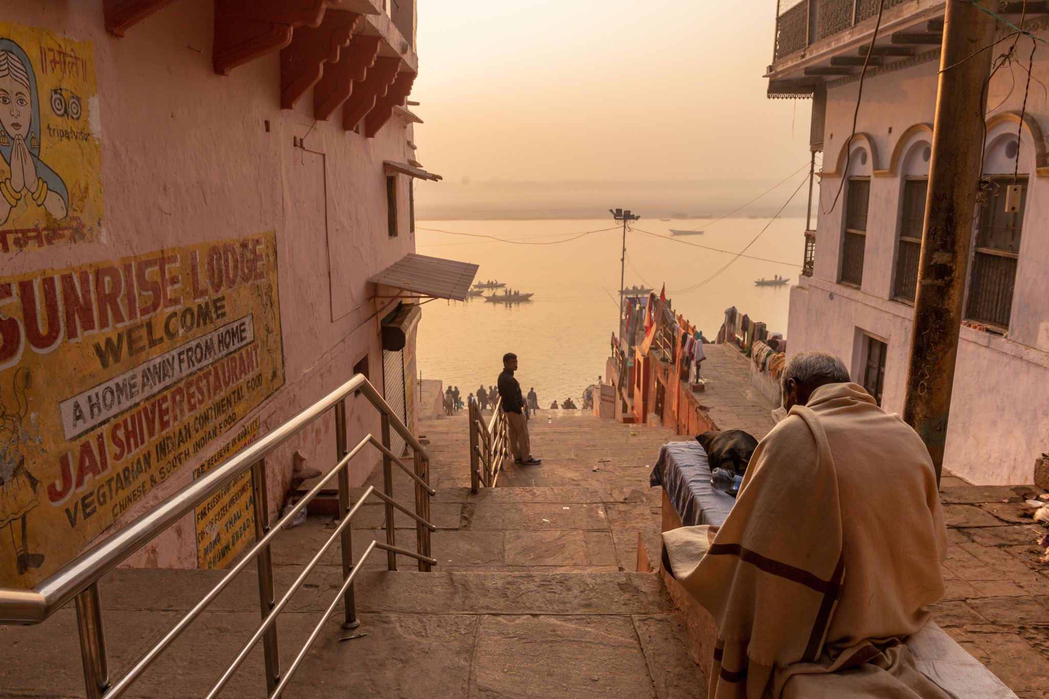 The Ganges River from Varanasi