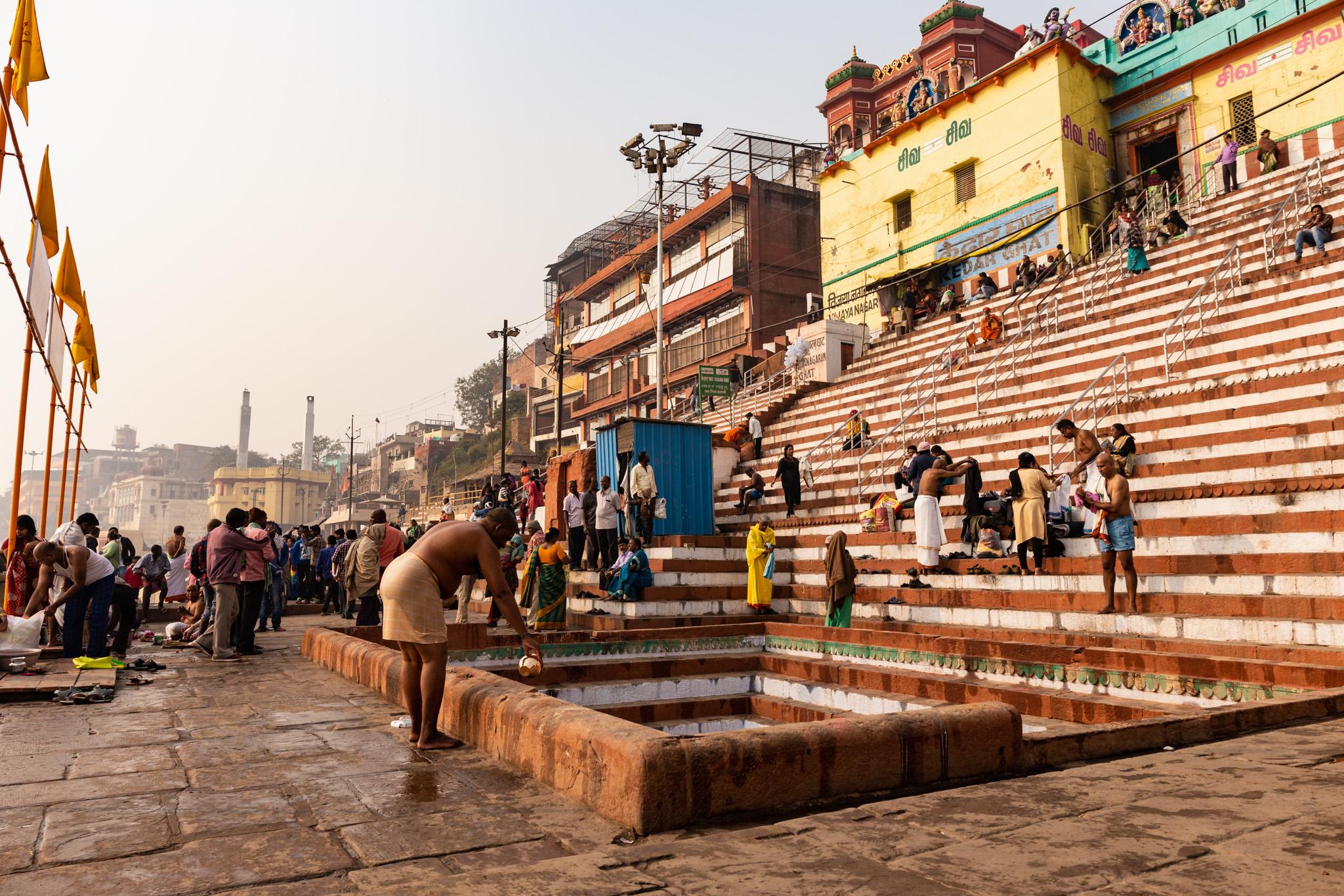 Ceremony pit in Varanasi, India.