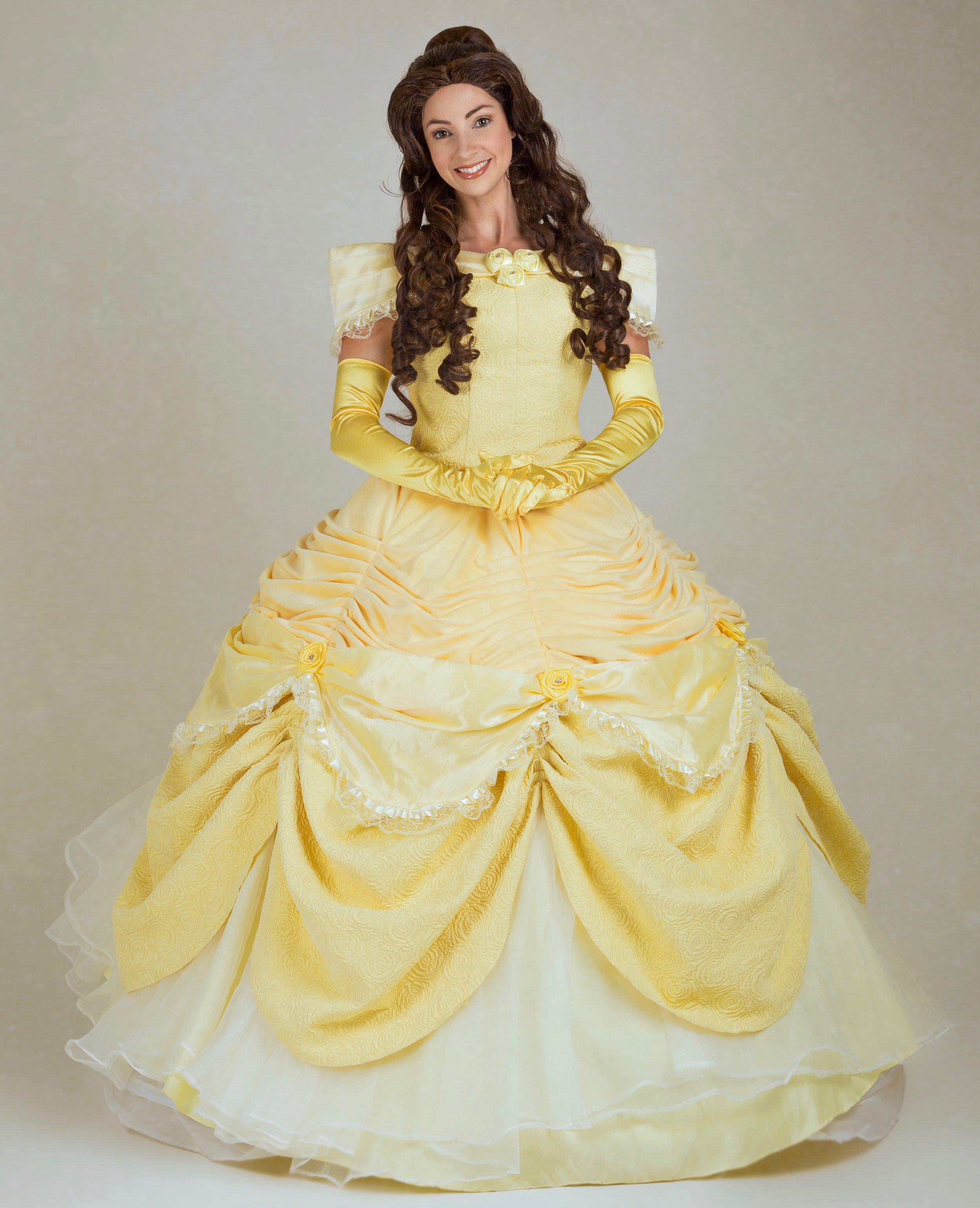 Belle   This princess wants to be your guest! Belle loves to read and share her stories of how she found true love. Your little princess will be the Belle of the Ball too!