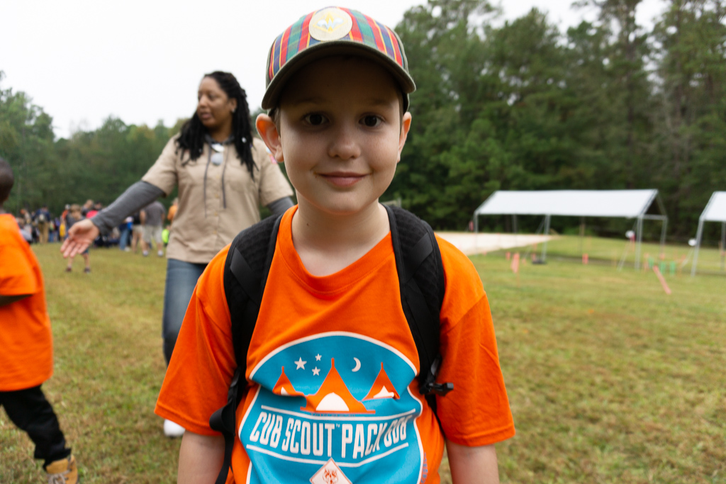 A happy Webelos Scout