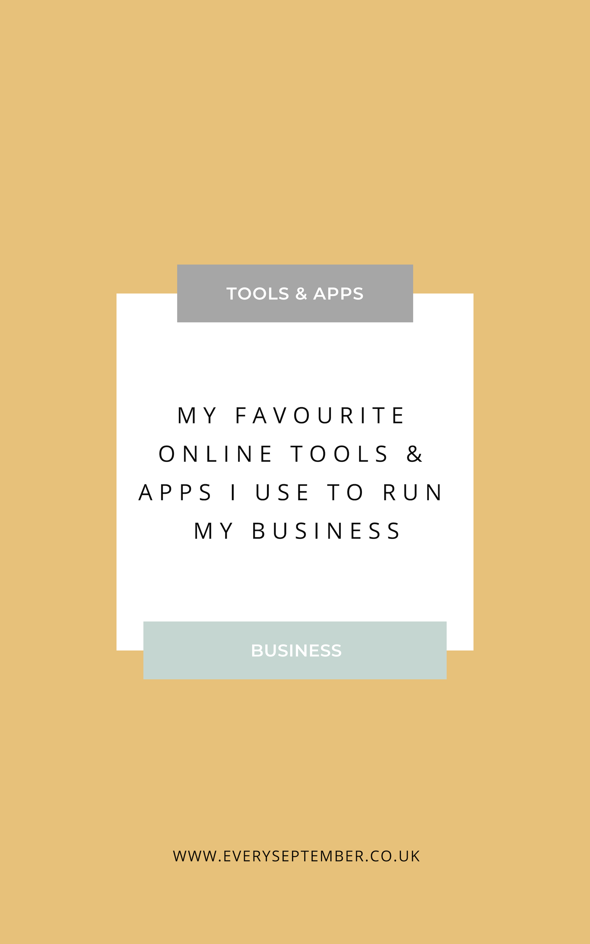 My favourite online business tools and apps to run my business