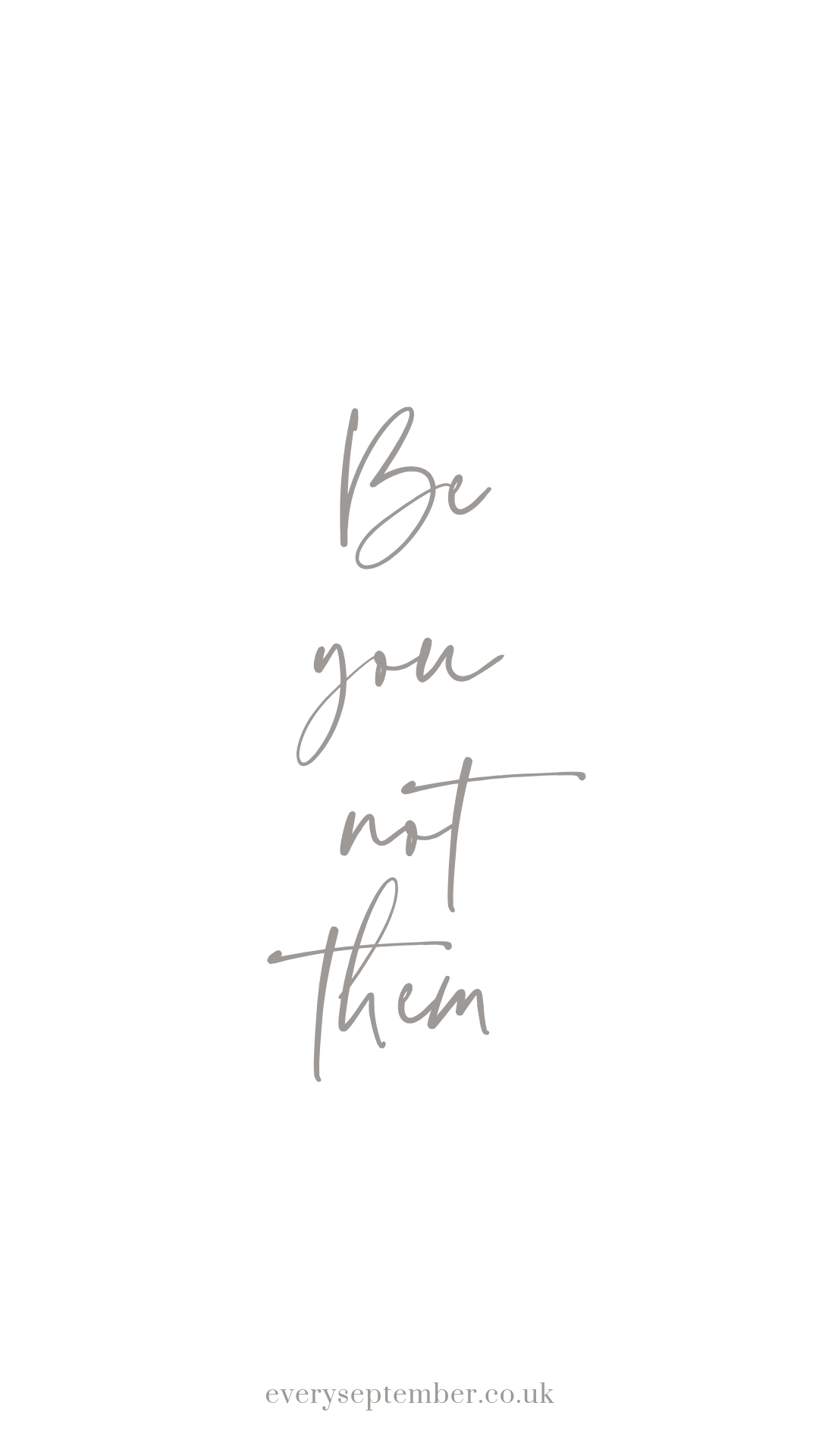 be you not them phone wallpaper