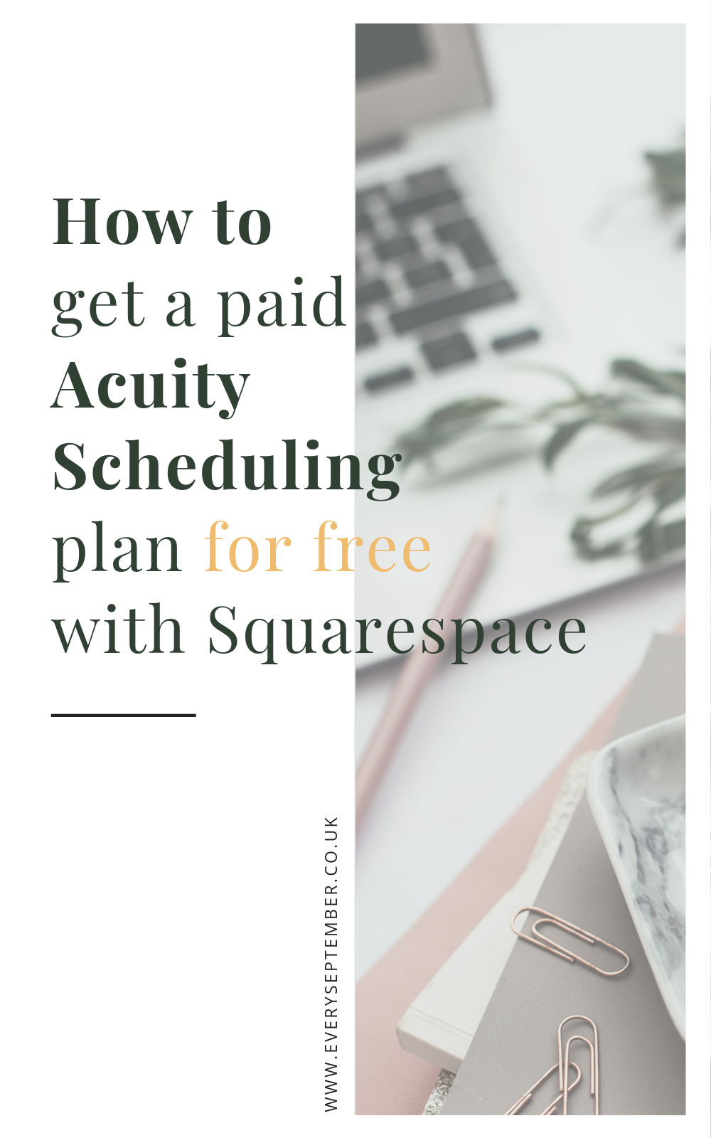 how to get a paid acuity scheduling plan for free with squarespace