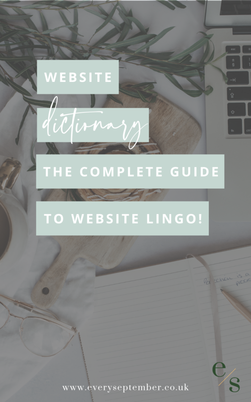 Website dictionary : the complete guide to all that website lingo
