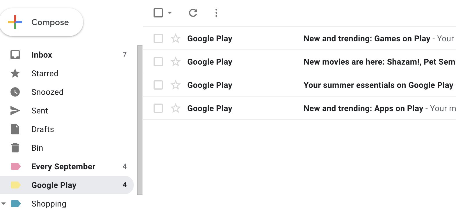 How to organise gmail with labels