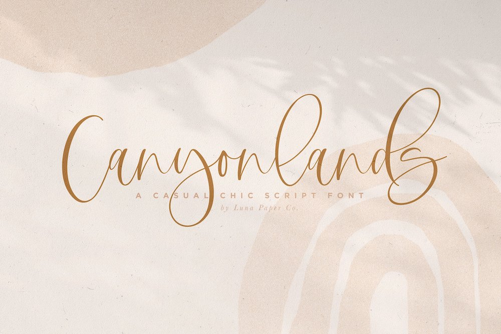 Canyonlands font