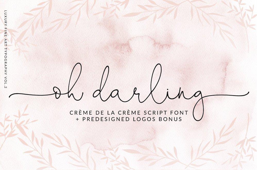 oh darling font