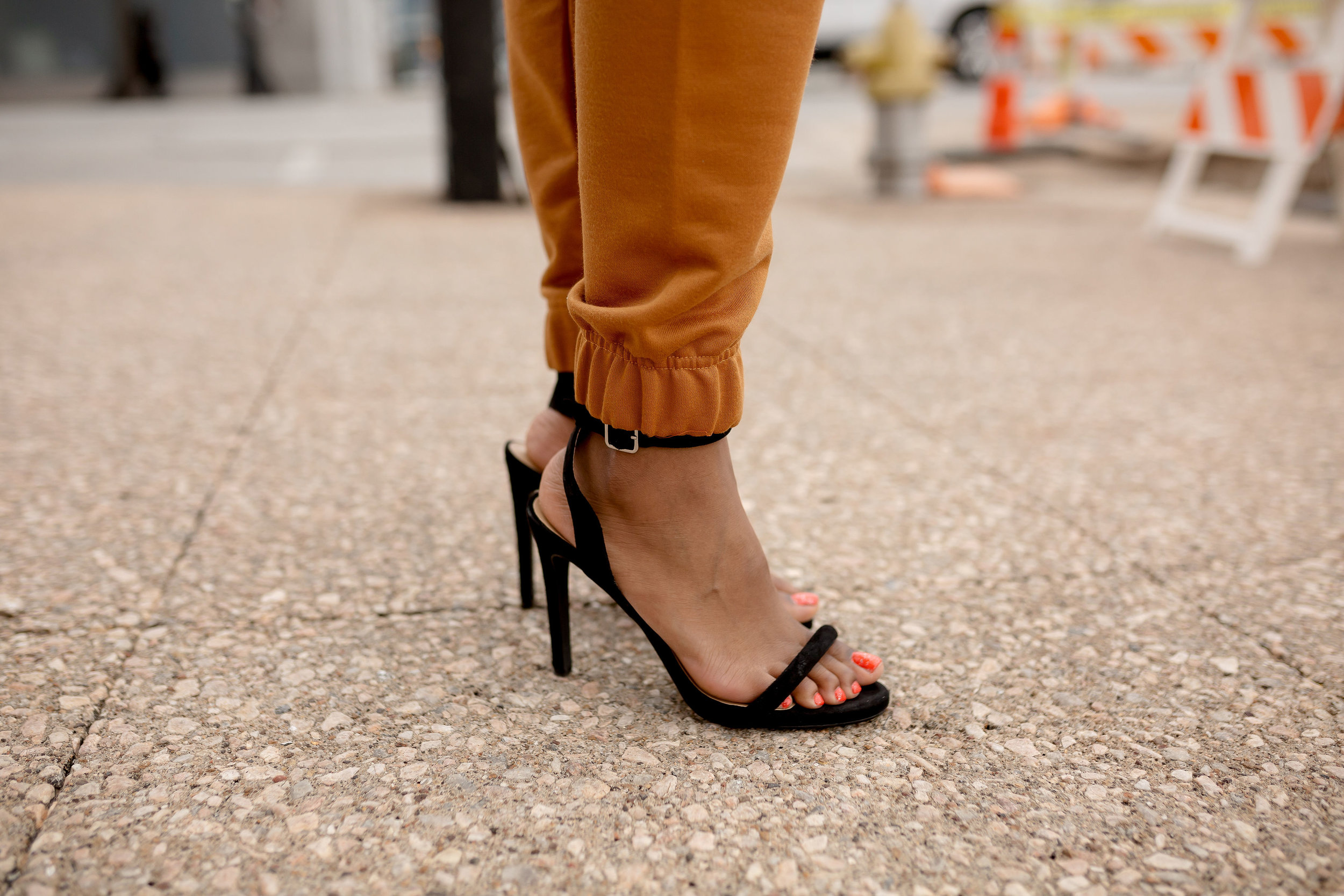 Two Part Strappy Heels