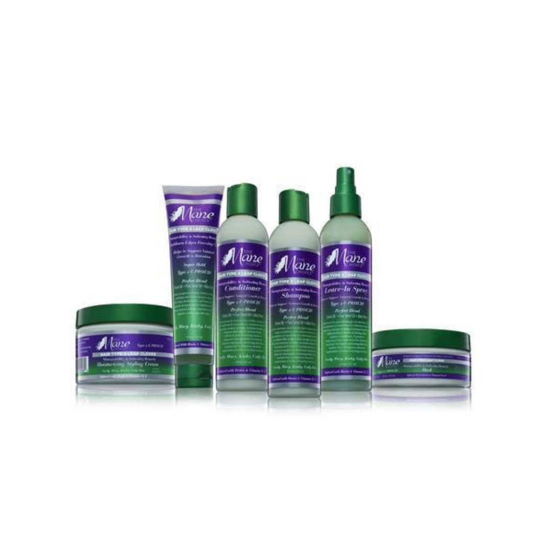 THE MANE CHOICE 4 LEAF CLOVER   This system is great for Type 4 hair! I love the definition and shine it provides my hair. Really, you only need the shampoo, deep conditioner, leave in, and styler. You can choose between a spray leave in and a creamy leave in (whichever you prefer, but they have both in this collection).   CURRENTLY 20% OFF AT SALLY BEAUTY.     CLICK TO SHOP