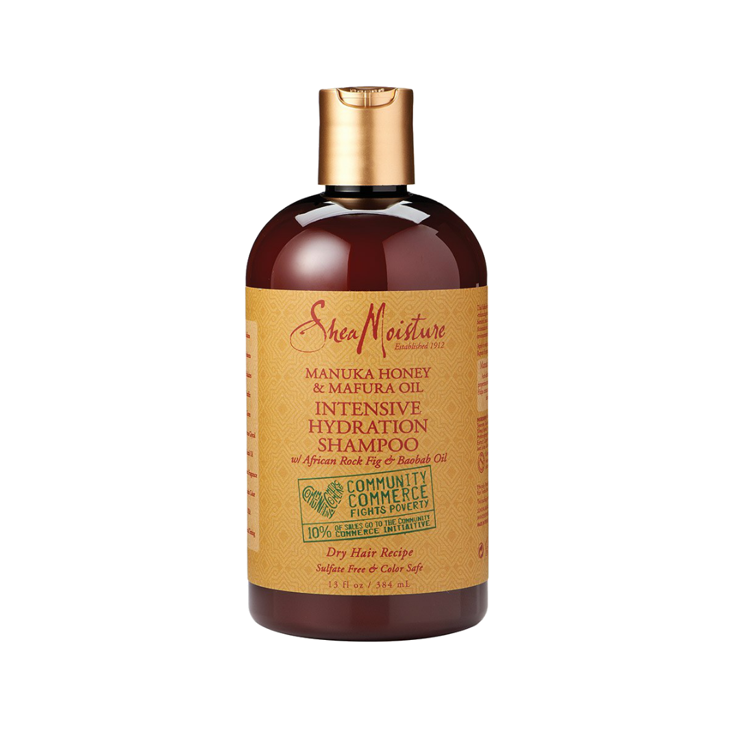 SHEA MOISTURE MANUKA HONEY & MAFURA OIL INTENSIVE HYDRATION SHAMPOO   This shampoo is very moisturizing! It does have a strong smell tho so if that's not your thing then this probably isn't for you. Works amazing tho in type 4 hair.   CURRENTLY BUY ONE GET ONE 50% OFF.     CLICK TO SHOP