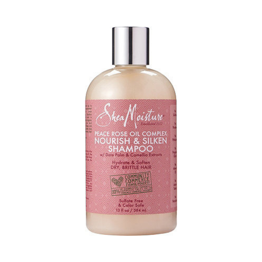 SHEA MOISTURE NOURISH & SILKEN SHAMPOO   This shampoo works amazing with the Giovanni 50 50 conditioner. It's one of my OG favorite routines. You can watch my wash day routine using these products here.   CURRENTLY BUY ONE GET ONE 50% OFF.     CLICK TO SHOP