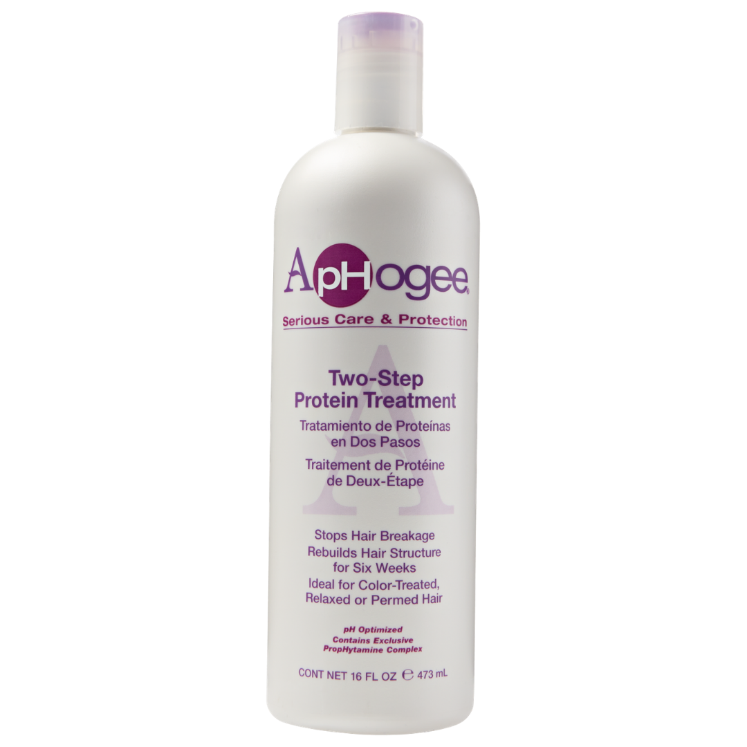 APHOGEE TWO STEP PROTEIN TREATMENT   The GOAT protein treatment. It's a hard protein treatment which should be followed up with the balancing moisturizer from the set or a deep conditioner.   CURRENTLY 20% OFF AT SALLY BEAUTY.     CLICK TO SHOP