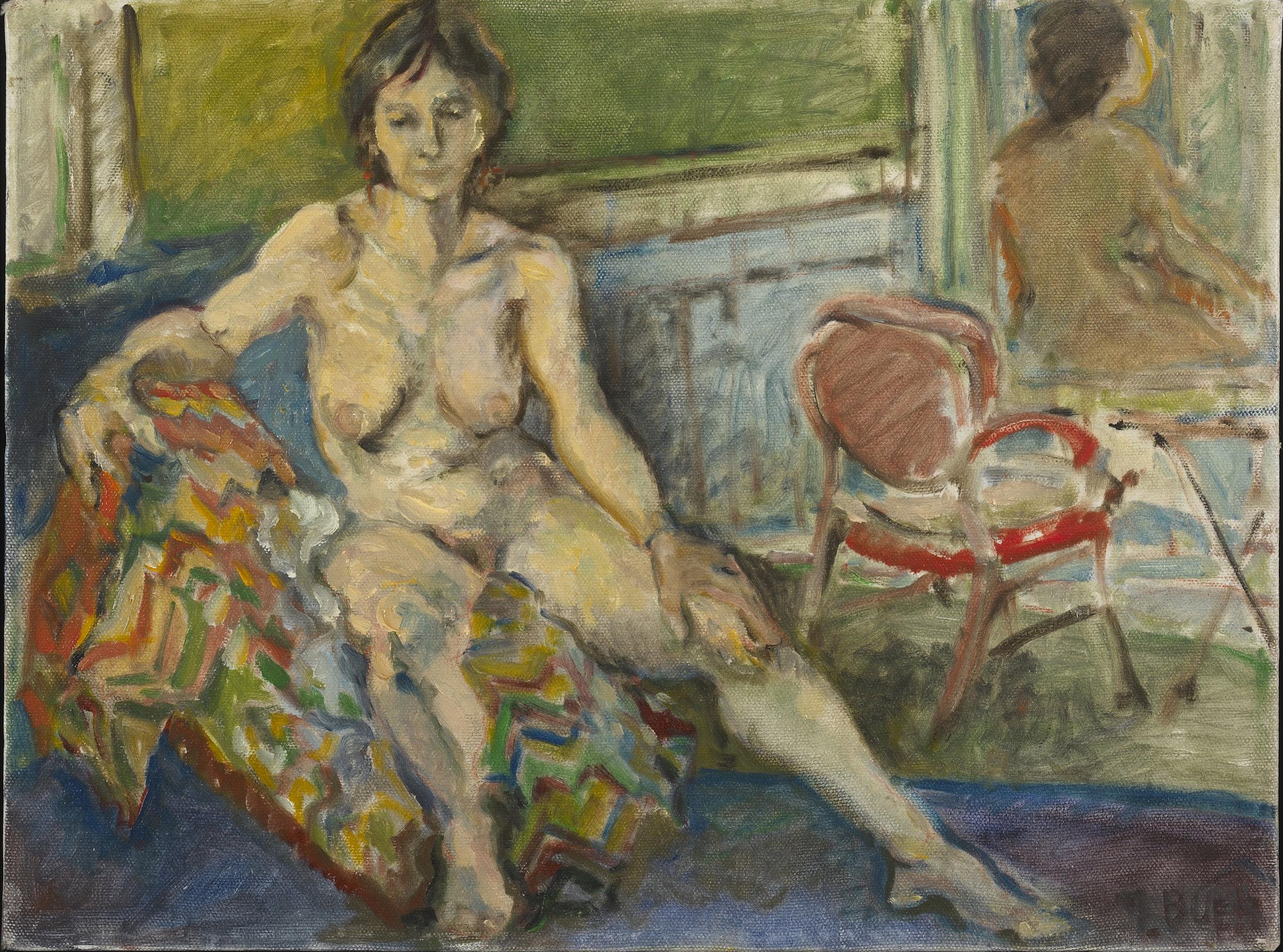 Contemplative Woman 14x16-oil on canvas