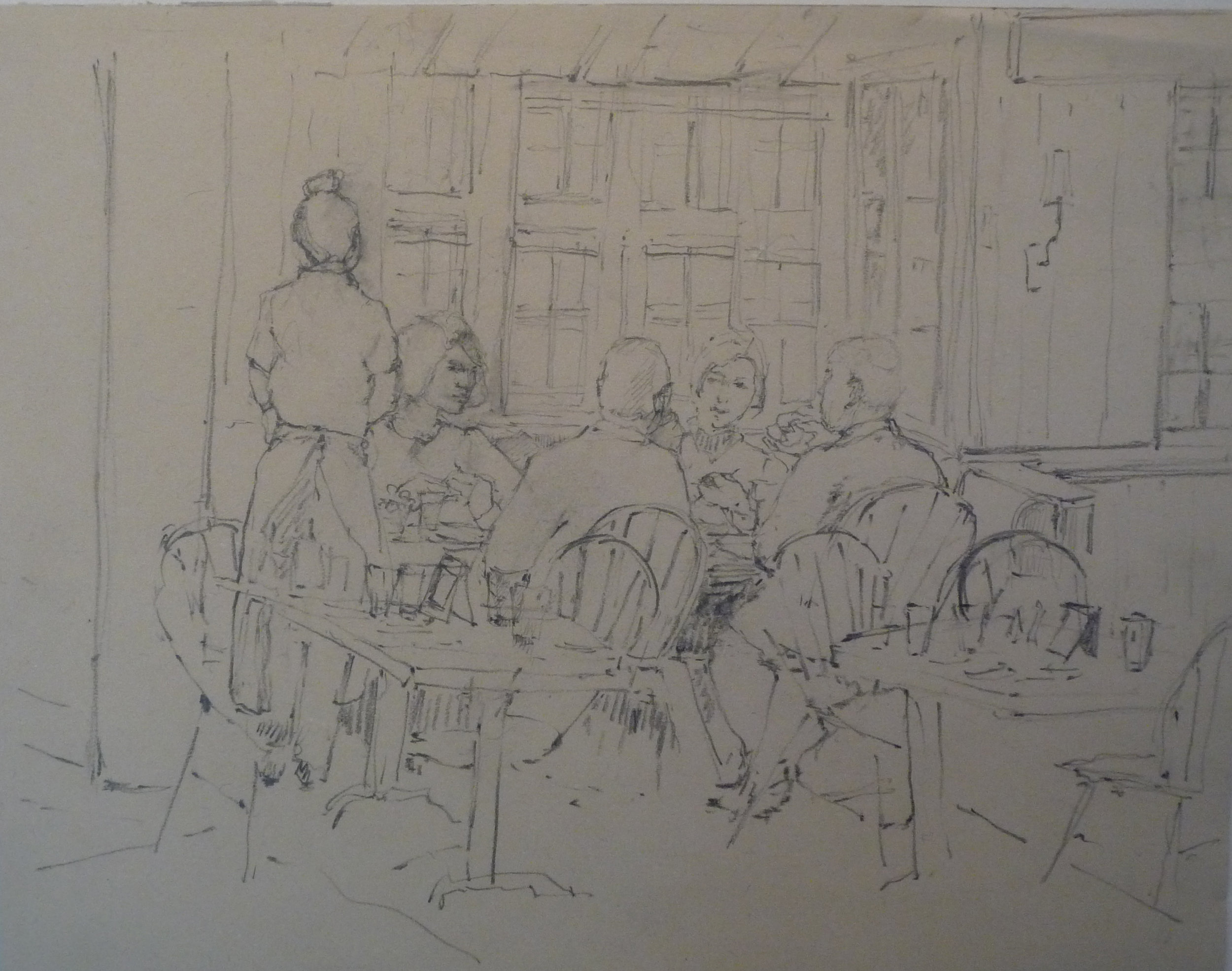 Lunch at Tavern  Pencil