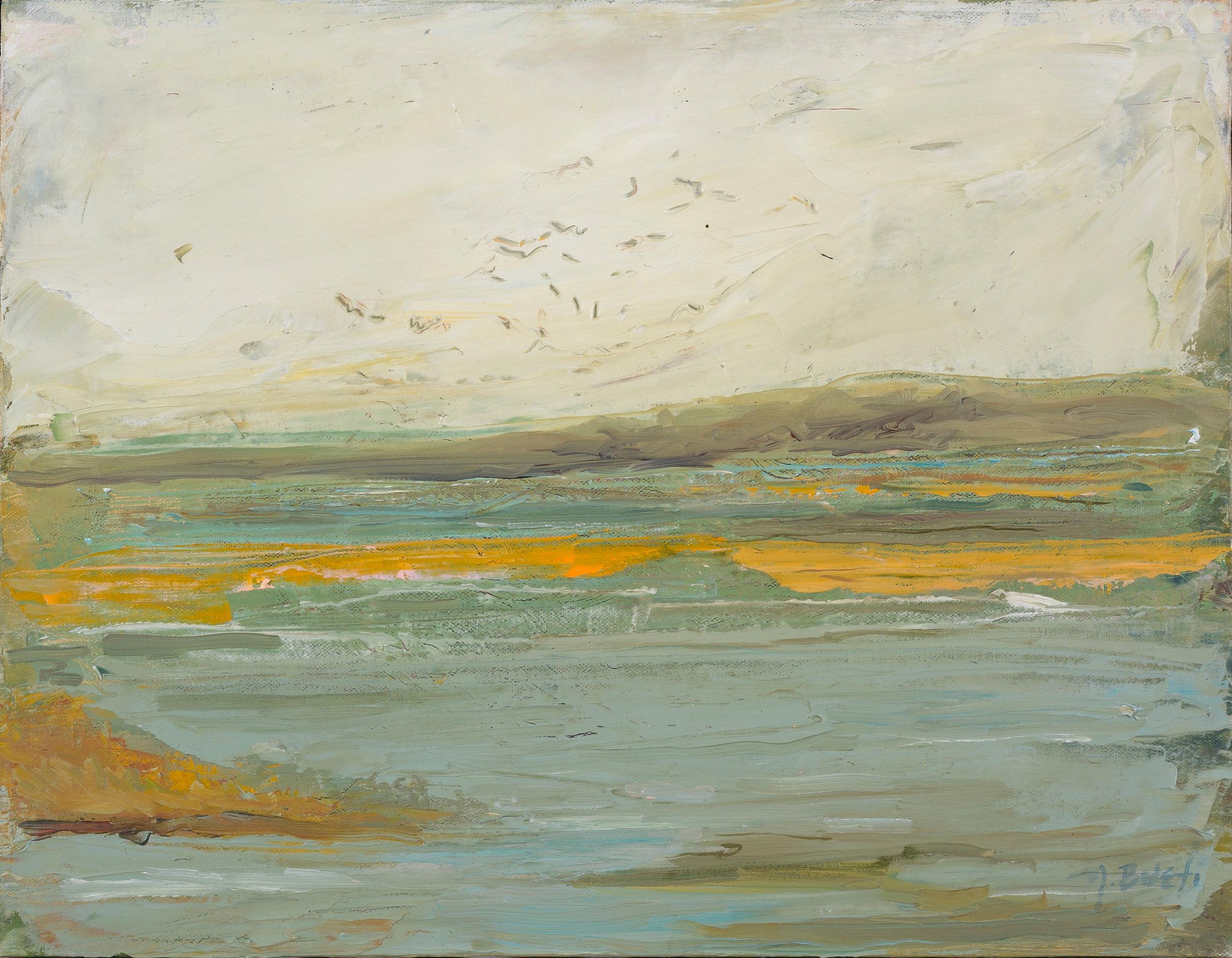 Rainy Harbor 2  14X16 - Oil on Canvas