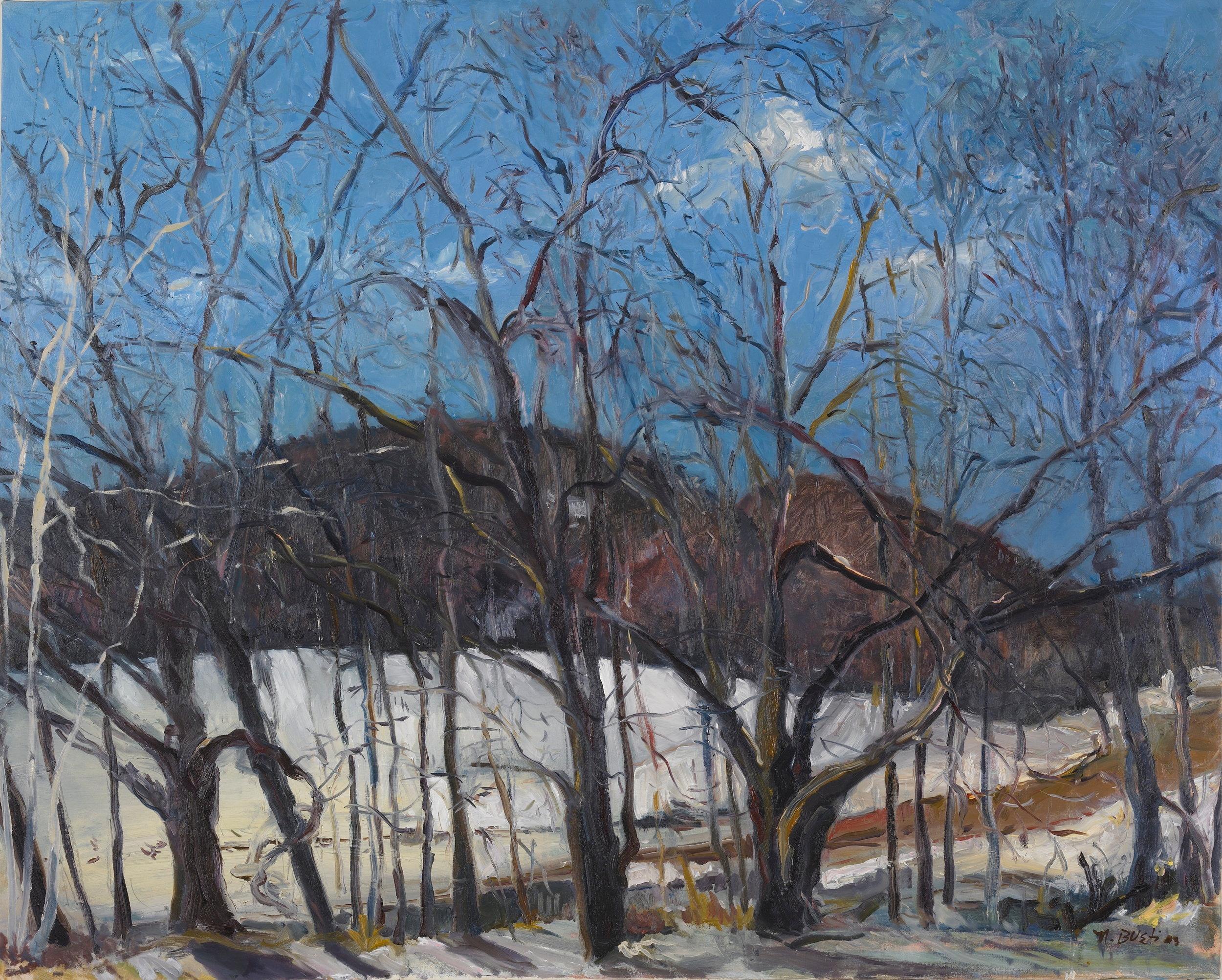Luscious Mountain  30X33 - Oil on Canvas