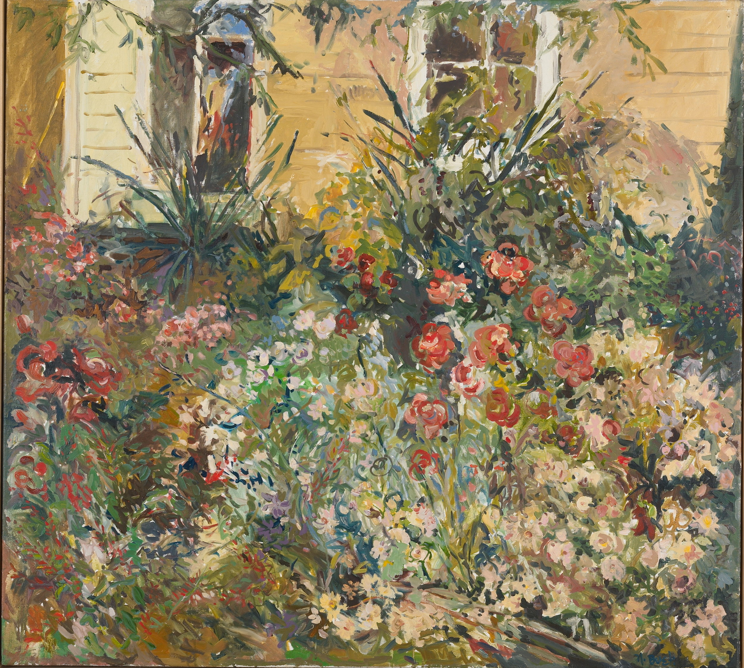 My Garden, Late Summer  40x44 oil on linen