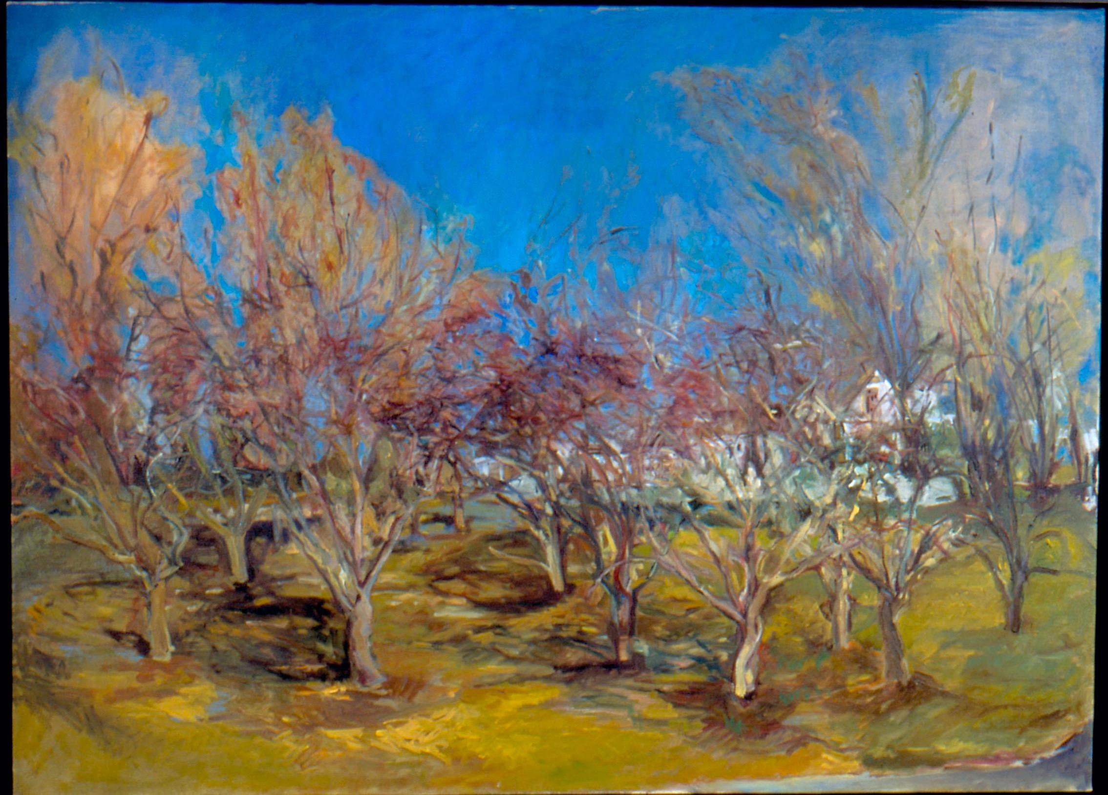 Lizbeth Crab Apples  45X46 - Oil on Canvas