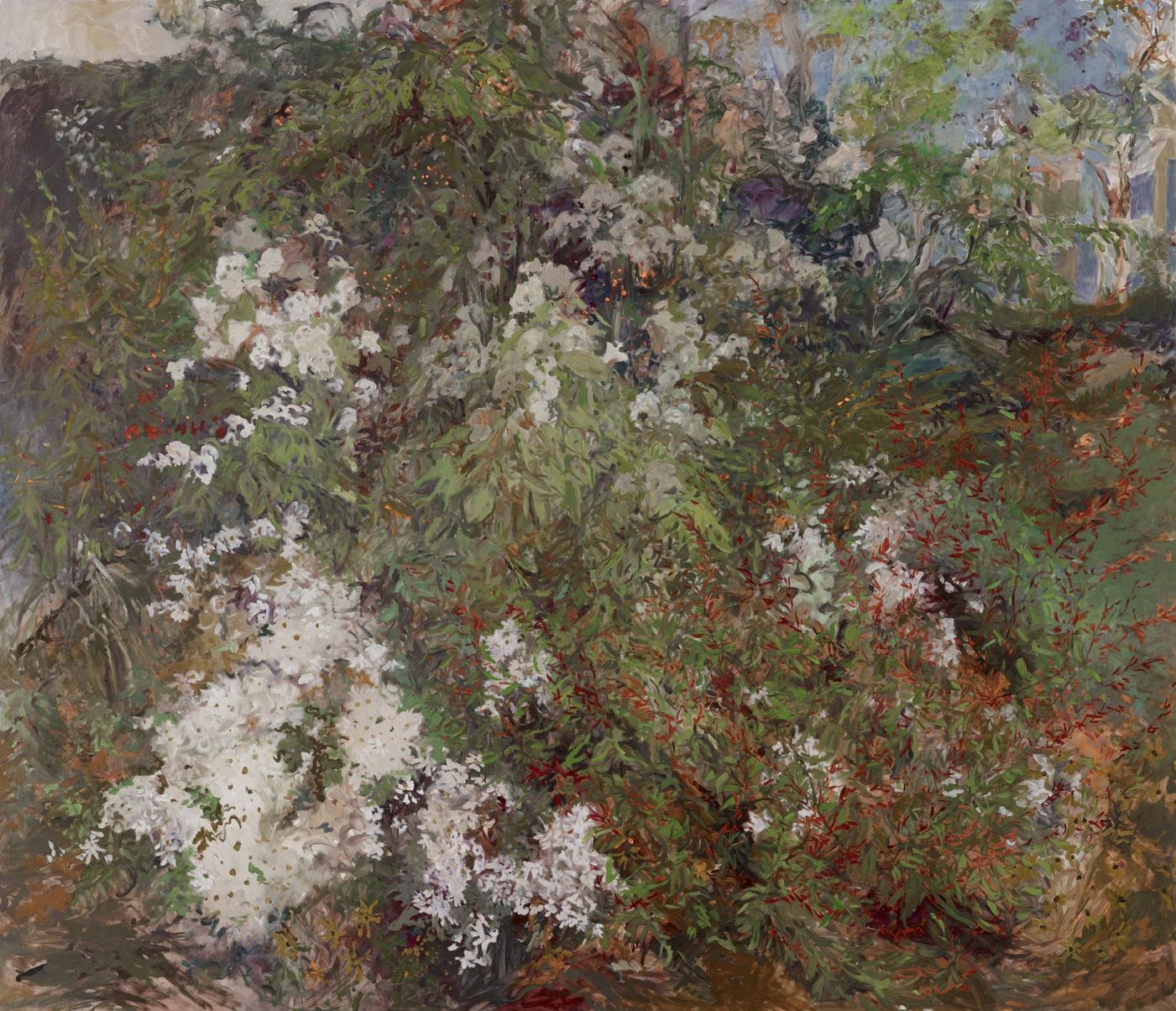 October Landscape  50x58 - Oil