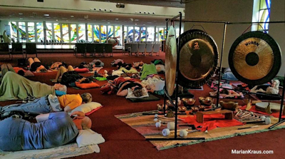 Gong meditation at The Well