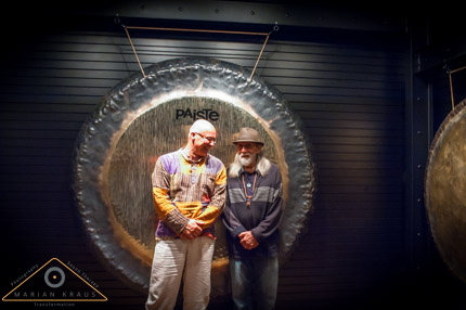 "Don Conreaux and the 80"" Paiste gong"