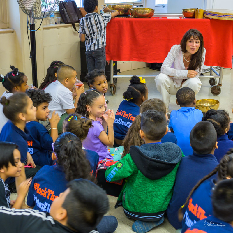 Gabriela de la Mora teaches the young ones how to be more mindful and relax