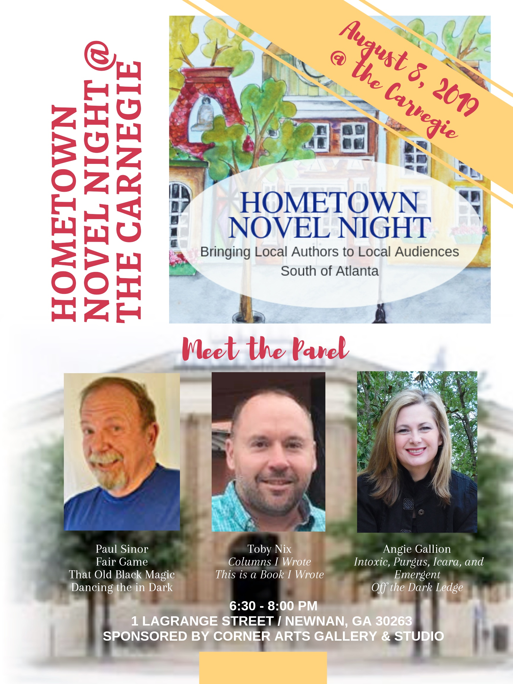 The Hometown Novel Night. - Paul Sinor will be one of the many talented authors presenting at The Hometown Novel Night. That Old Black Magic will be available for purchase.