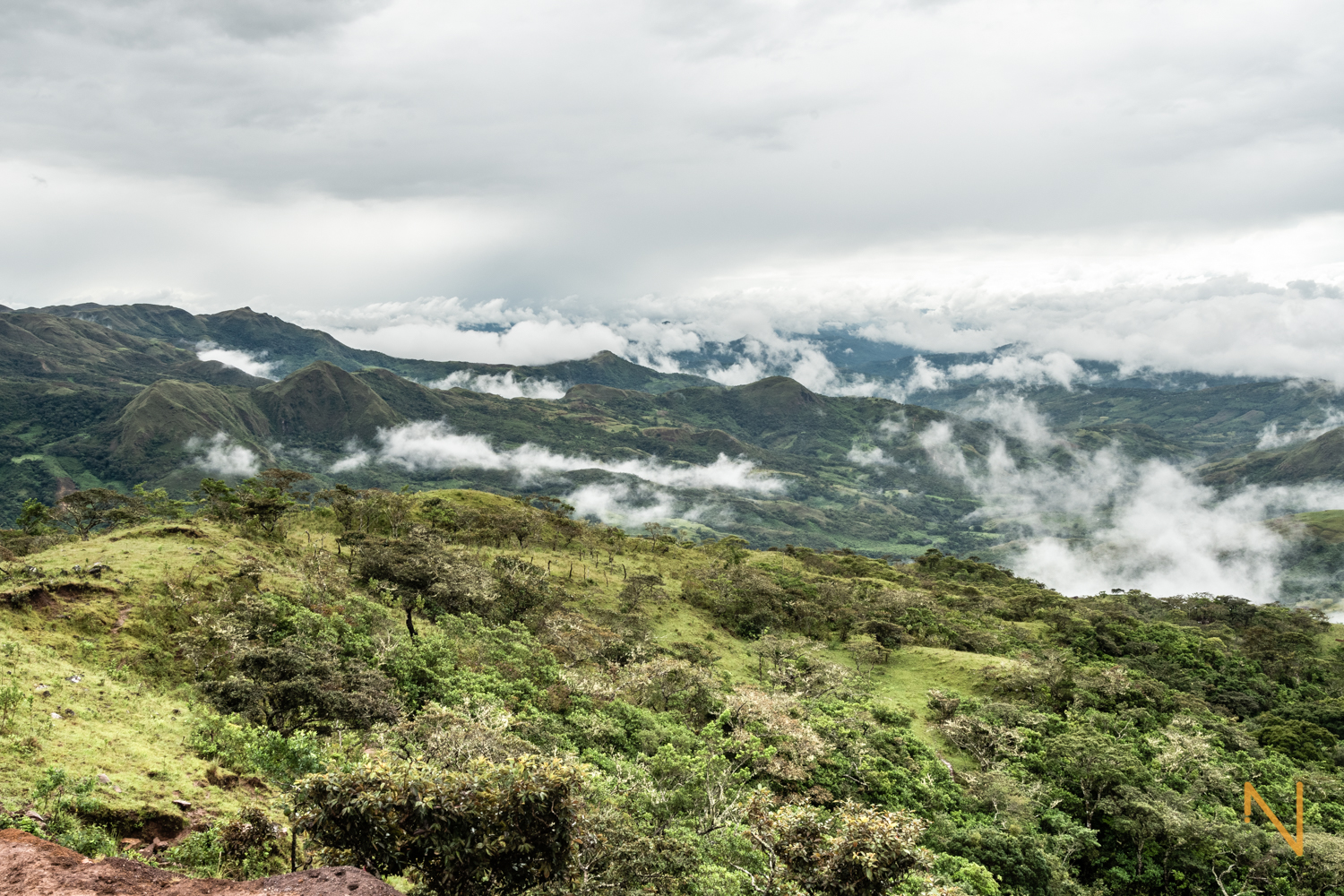 The  comarca  Ngäbe-Buglé from the mountains in Hato Chami.