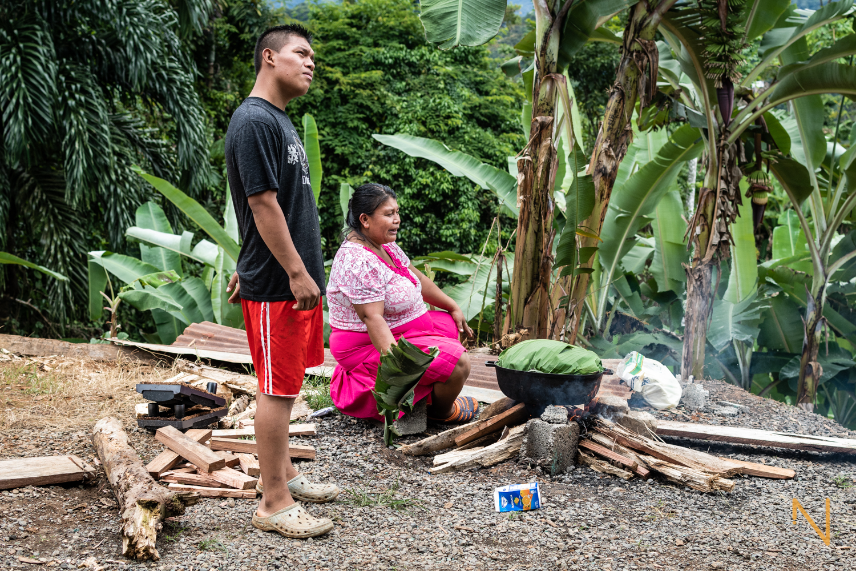 The Palacio family, Valle del Rey, Bocas del Toro.
