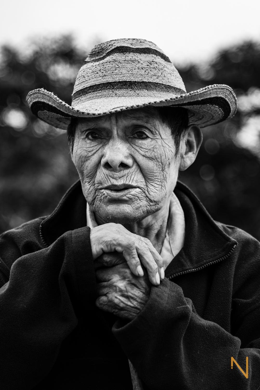 Retrato de Pedro, cultivador en Llano Tugrí.