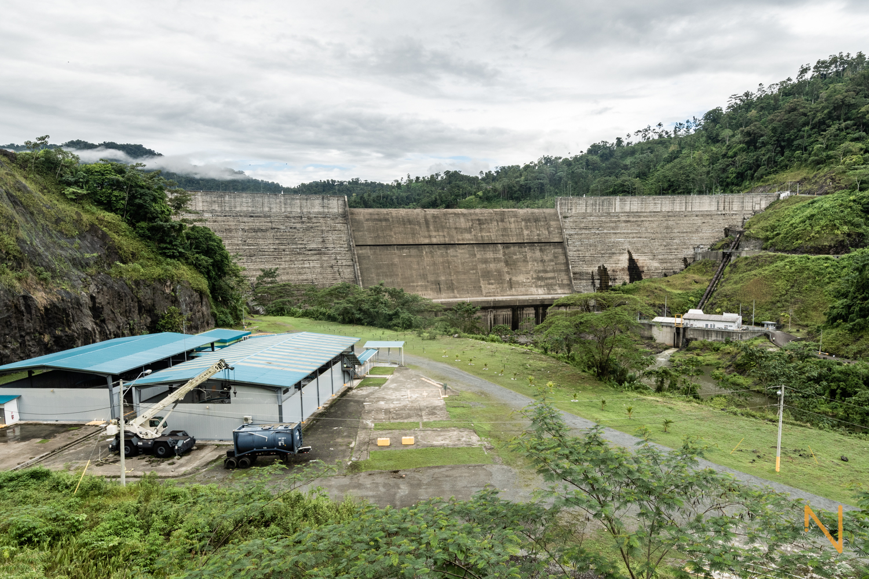 La represa Chan I en el Valle de Risco, Bocas del Toro.
