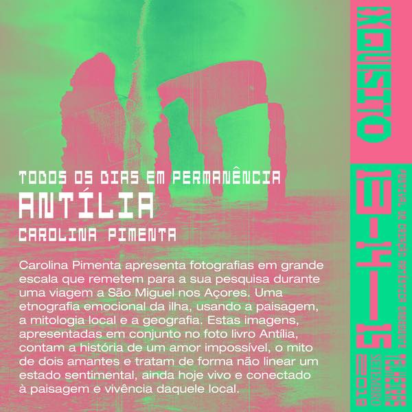 """Antília , festival  Exquisito , Lisbon, PT, 14 - 15 September 2018  Installation at festival Exquisito.   Exquisito  is an emerging artistic creation festival taking place in Telheiras. With more than 50 artists cover the theme """"After Absolute Certainties"""" in a program that features 30 visual, musical and performatic arts initiatives.   After the absolute certainties what will we have left? And after what happened we thought it was impossible to happen? Absolute certainties matter little or nothing to whom the only certainty is creation. Art causes dissonance precisely because it escapes common sense, because it expands our processes of apprehending reality. The basis of the spirit of artistic creation lies in interrogation and complexity."""