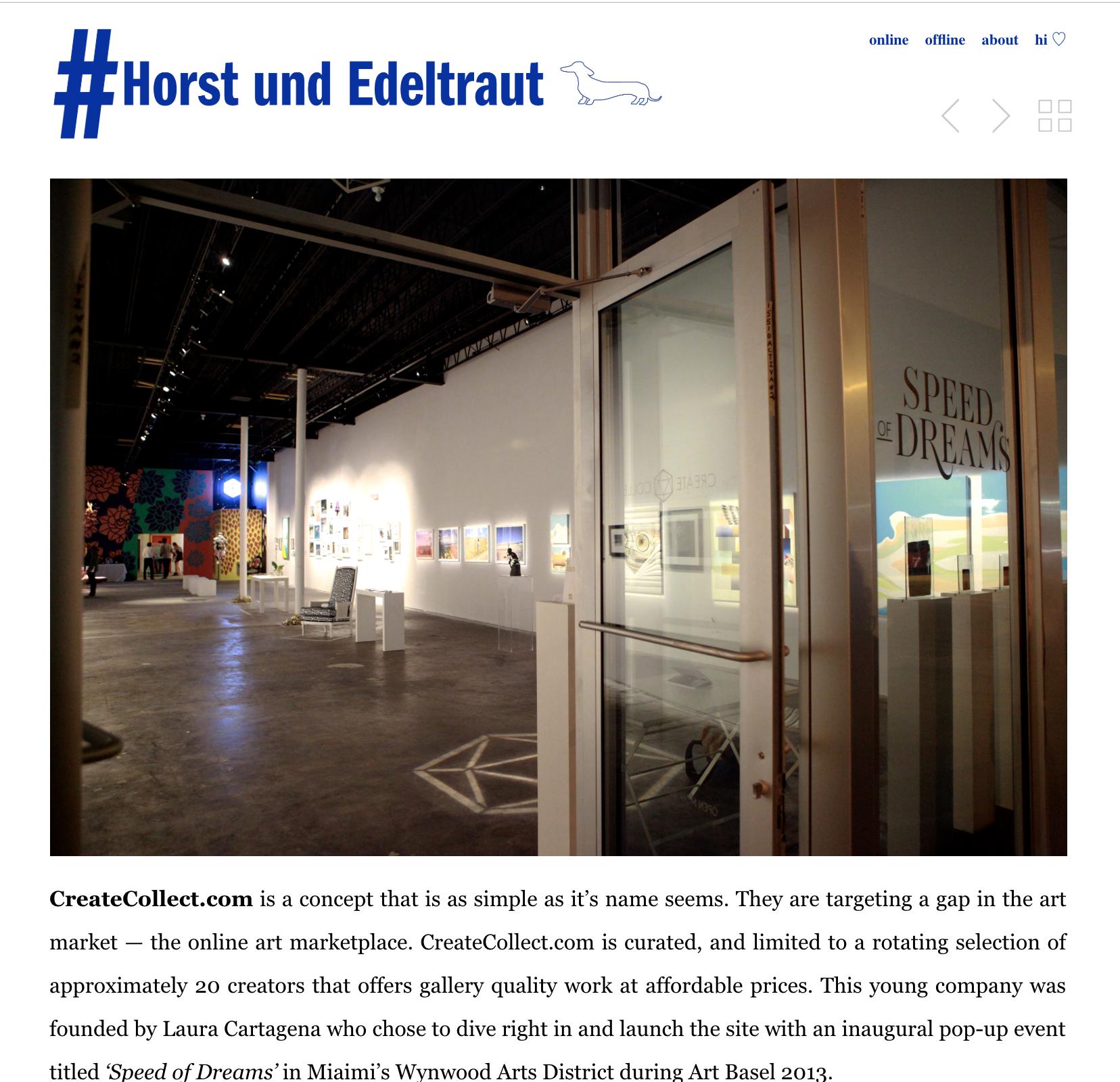 Speed of Dreams,   Horst und Edeltraut , December 2013
