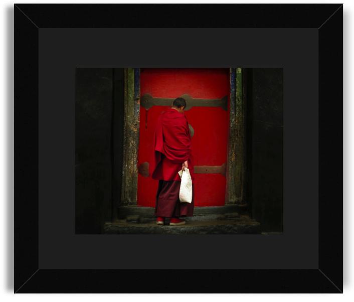 Jannine Krish Tibetan Monk Black Frame Black Mat.png